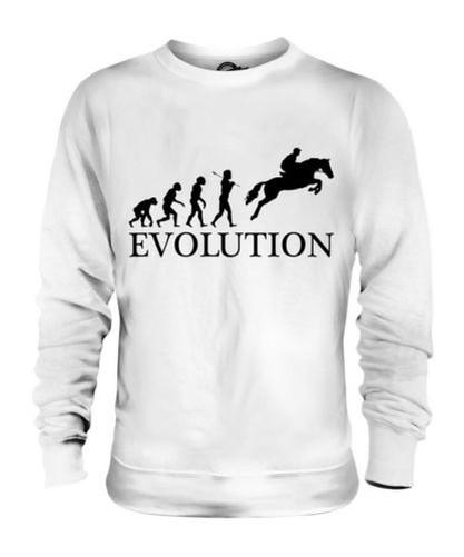 Pferderennen Hindernislauf Evolution des  Herrenchen Unisex Pullover Herren Damen
