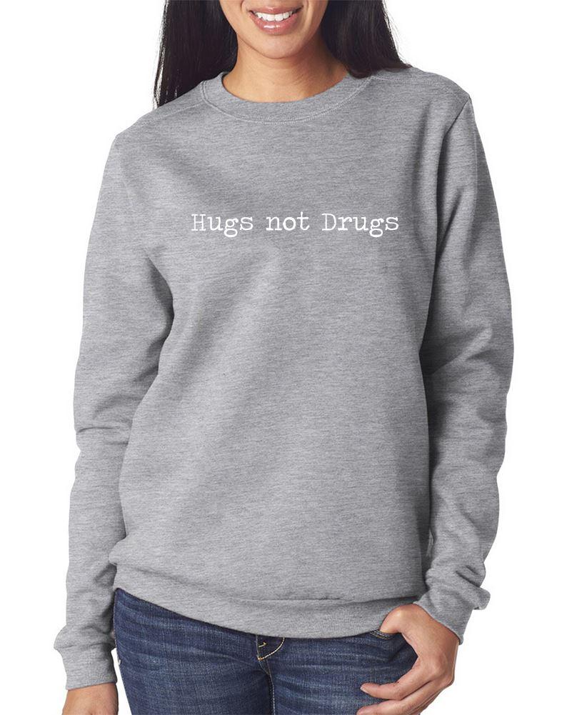 hugs not drugs pulli lustige hipster schwarz grau m dchen damen mode pullover ebay. Black Bedroom Furniture Sets. Home Design Ideas