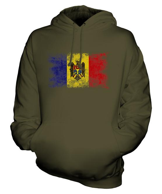 Moldavie Drapeau Délavé Sweat Unisexe à Capuche Unisexe Sweat Haut Moldovan c3770e
