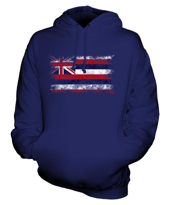 À Unisexe shirt Cadeau Délavé Sweat Hawaïen Haut État Drapeau Capuche T Hawaii qCxw4U7U