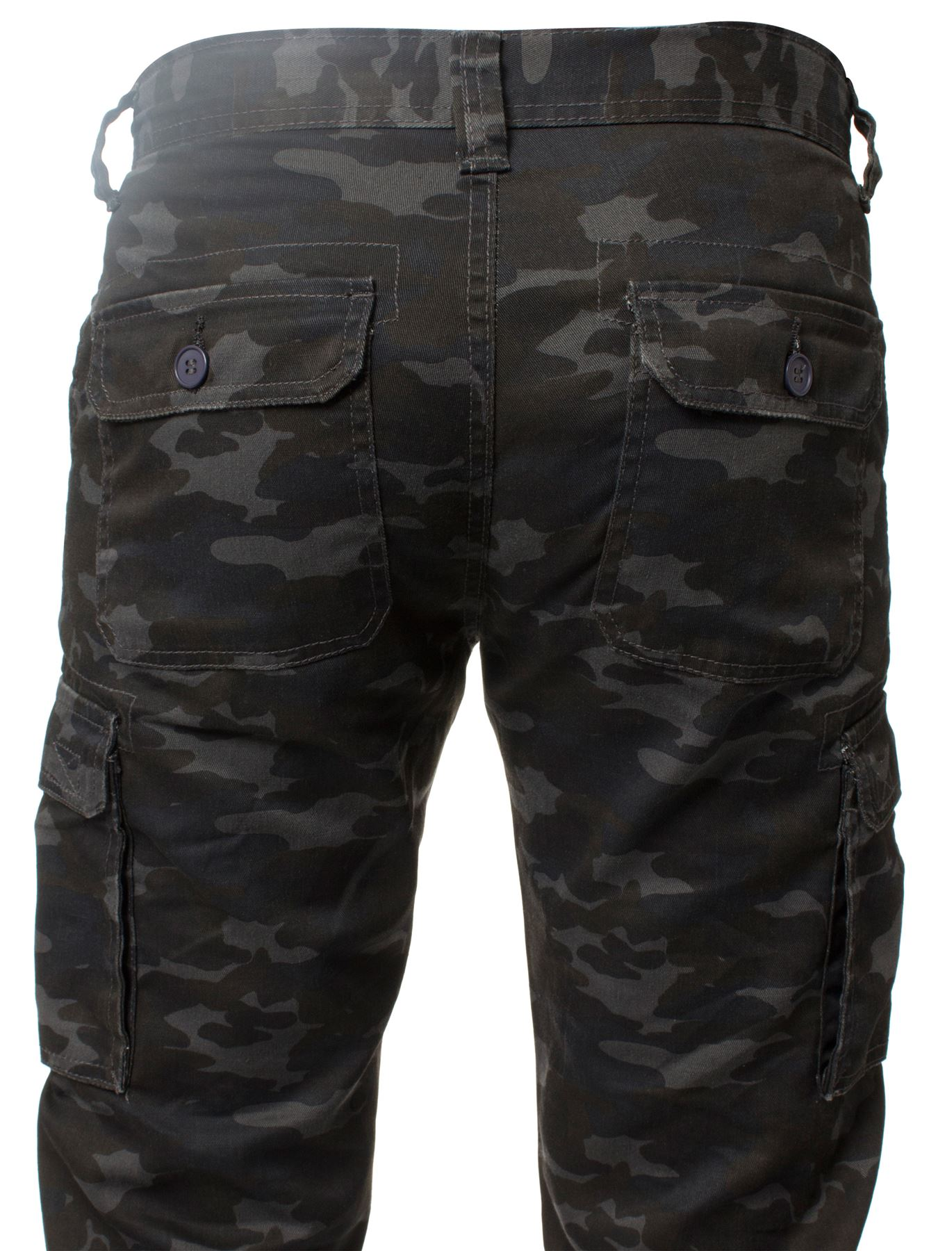 Kruze-Uomo-Militare-Pantaloni-Camouflage-Cargo-Mimetico-Casual-Lavoro miniatura 37