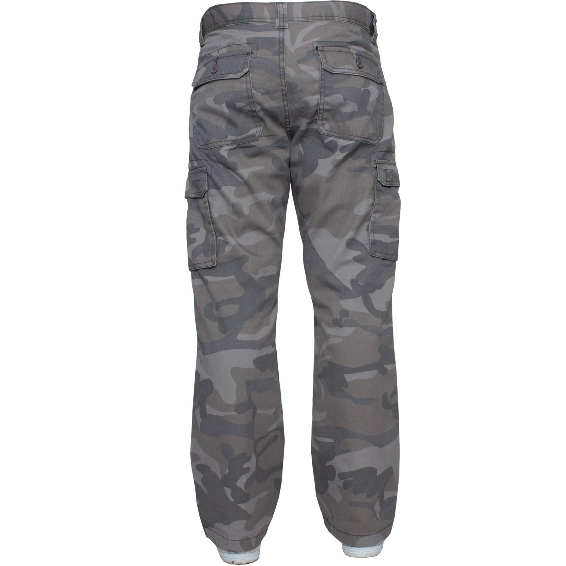 Kruze-Uomo-Militare-Pantaloni-Camouflage-Cargo-Mimetico-Casual-Lavoro miniatura 13