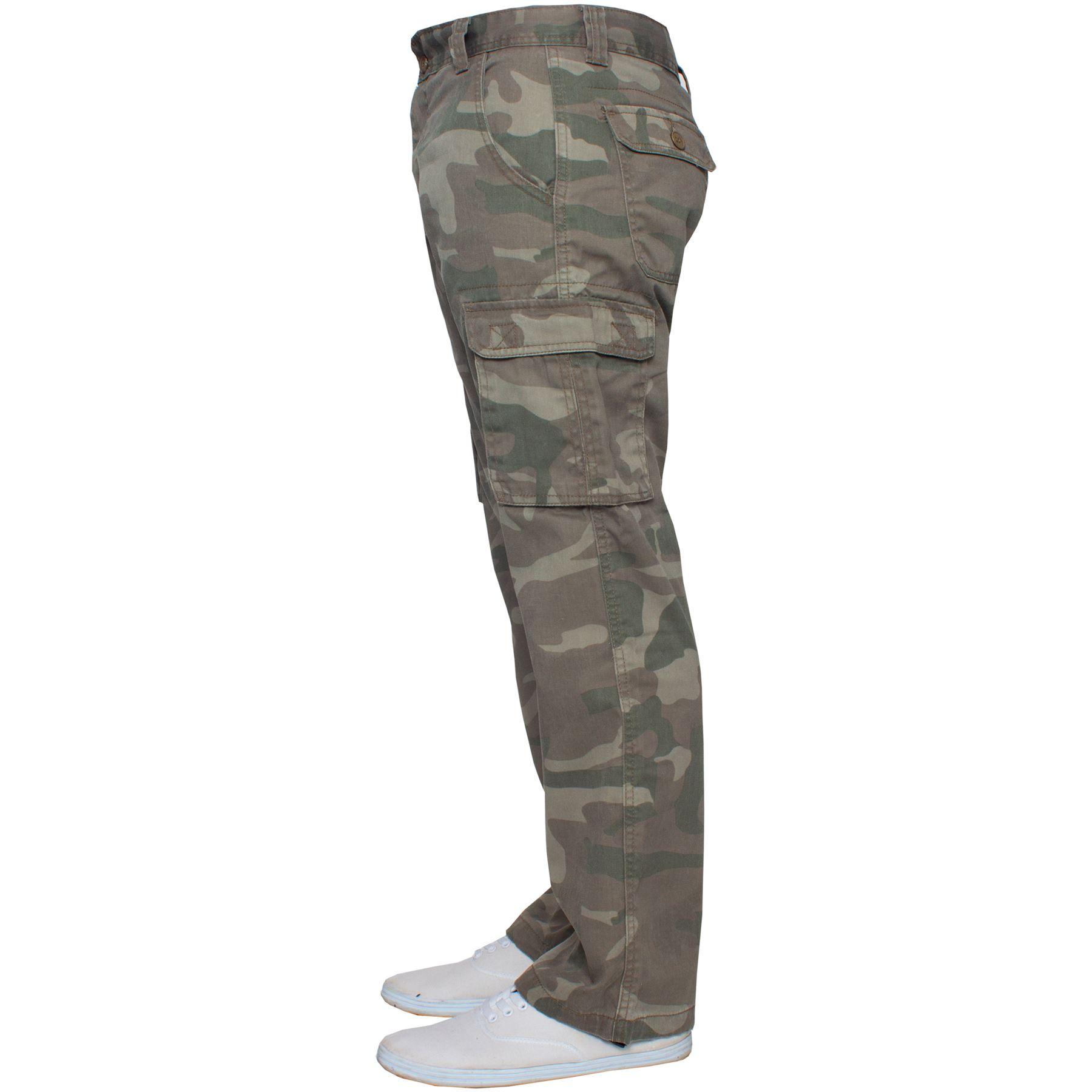 Kruze-Uomo-Militare-Pantaloni-Camouflage-Cargo-Mimetico-Casual-Lavoro miniatura 27