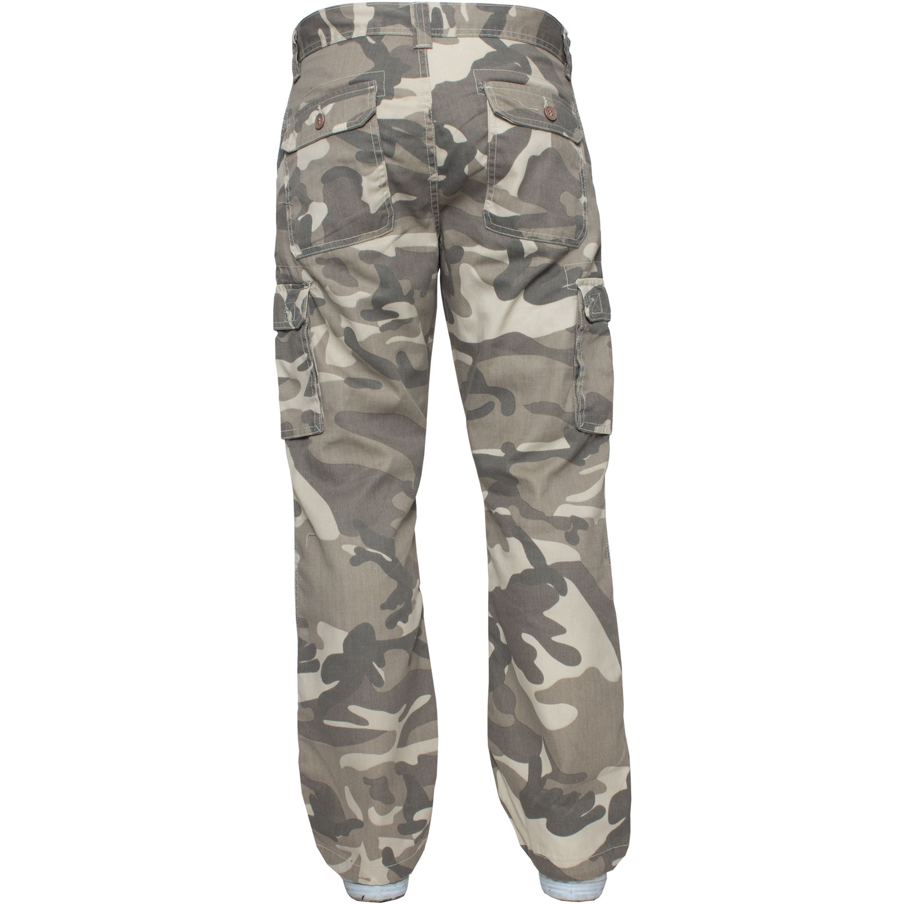Kruze-Uomo-Militare-Pantaloni-Camouflage-Cargo-Mimetico-Casual-Lavoro miniatura 7