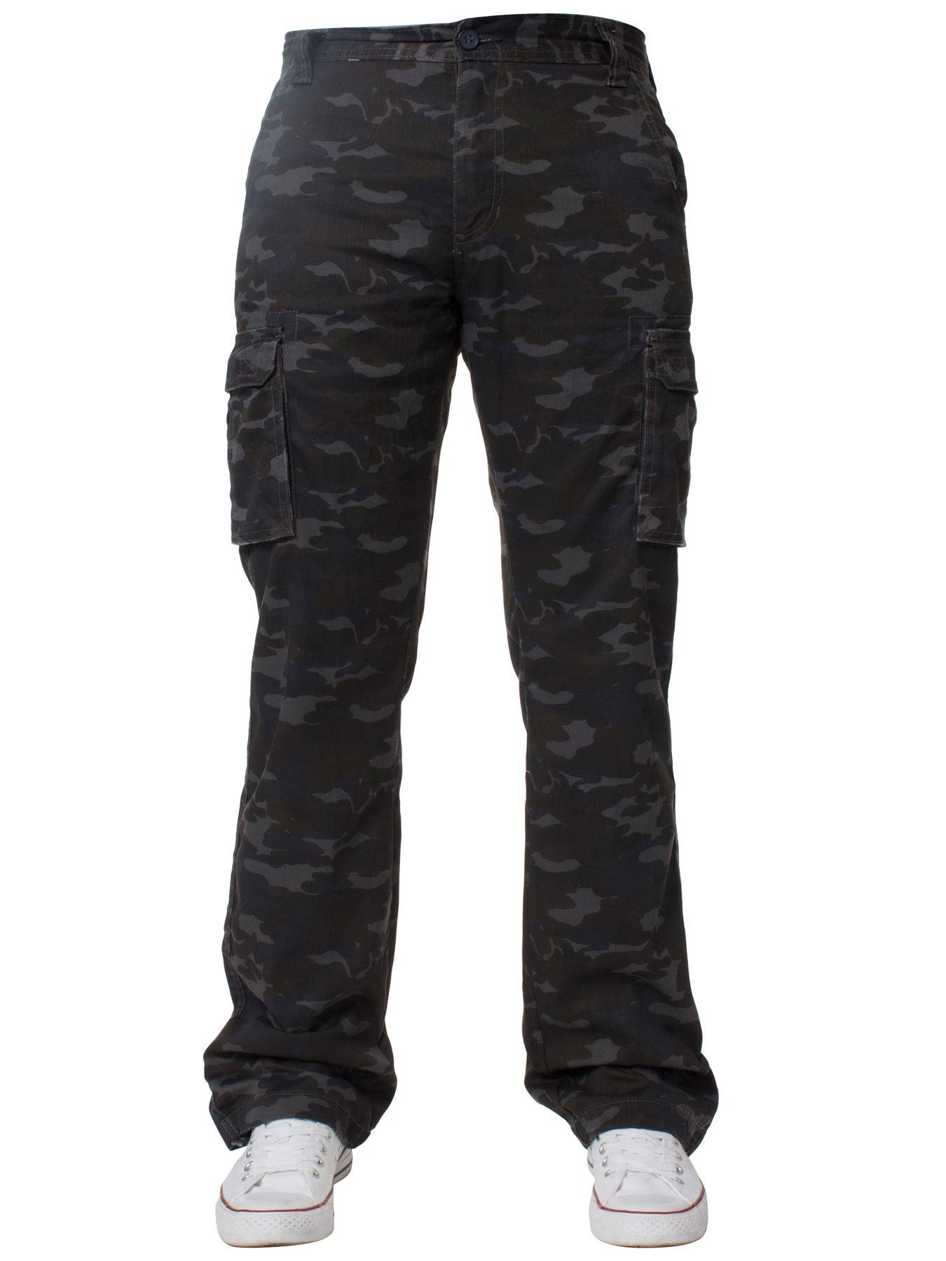Kruze-Uomo-Militare-Pantaloni-Camouflage-Cargo-Mimetico-Casual-Lavoro miniatura 34
