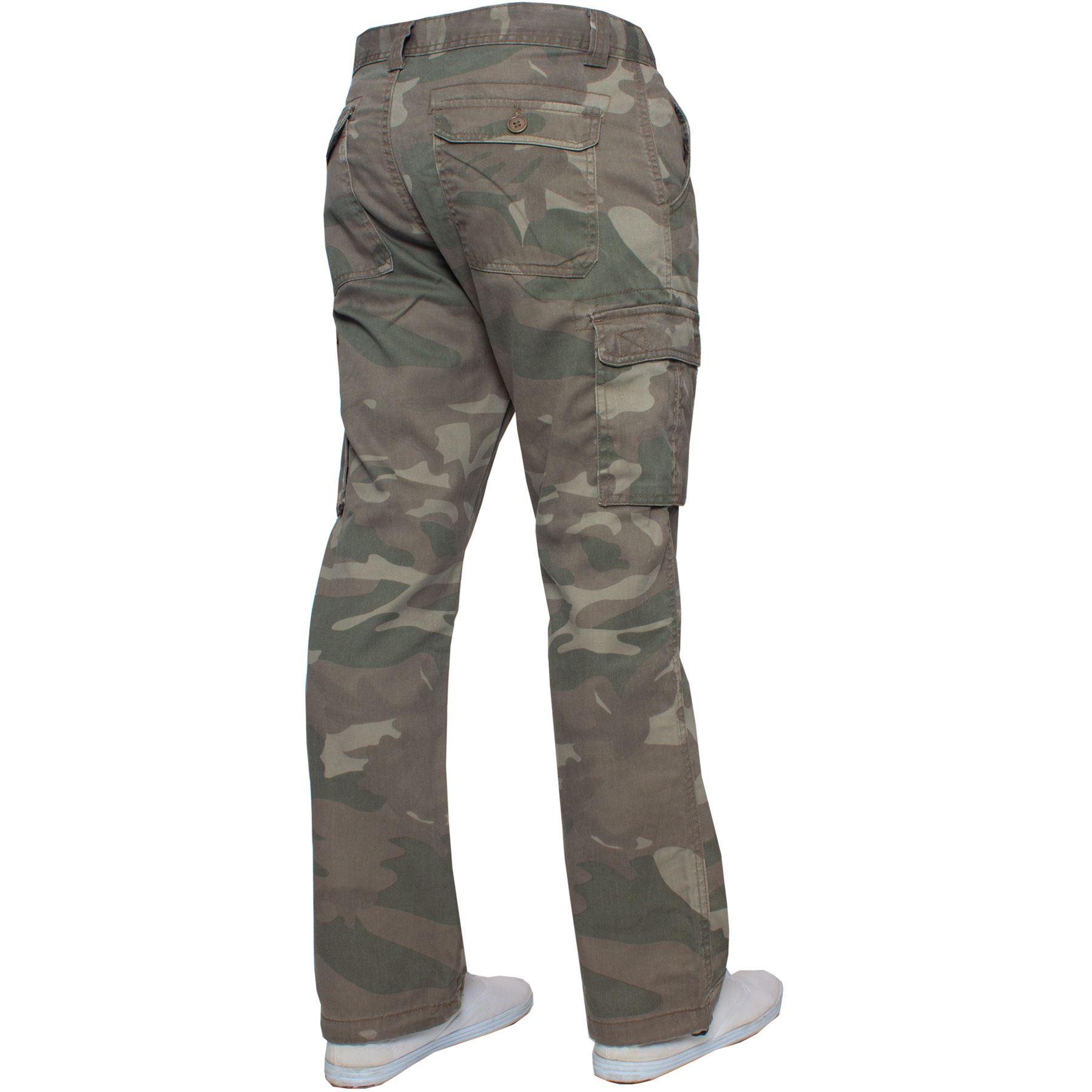 Kruze-Uomo-Militare-Pantaloni-Camouflage-Cargo-Mimetico-Casual-Lavoro miniatura 26