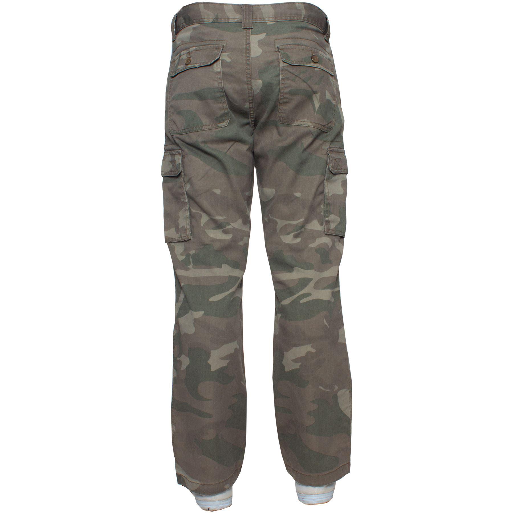Kruze-Uomo-Militare-Pantaloni-Camouflage-Cargo-Mimetico-Casual-Lavoro miniatura 29