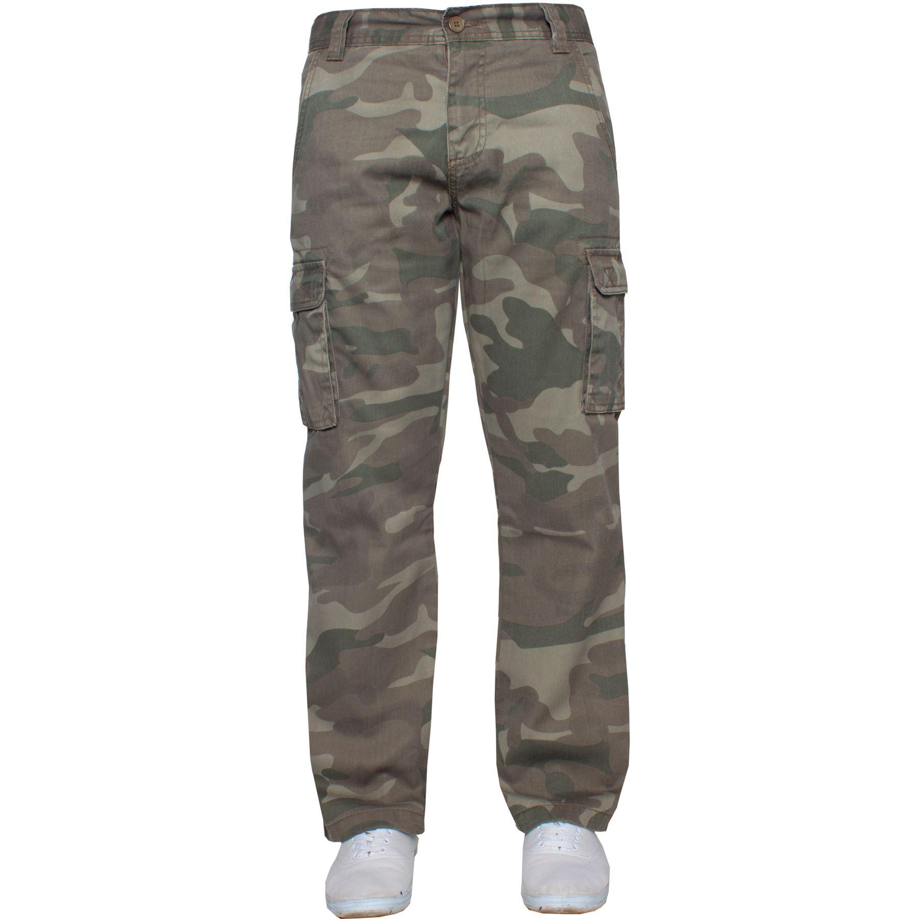 Kruze-Uomo-Militare-Pantaloni-Camouflage-Cargo-Mimetico-Casual-Lavoro miniatura 28