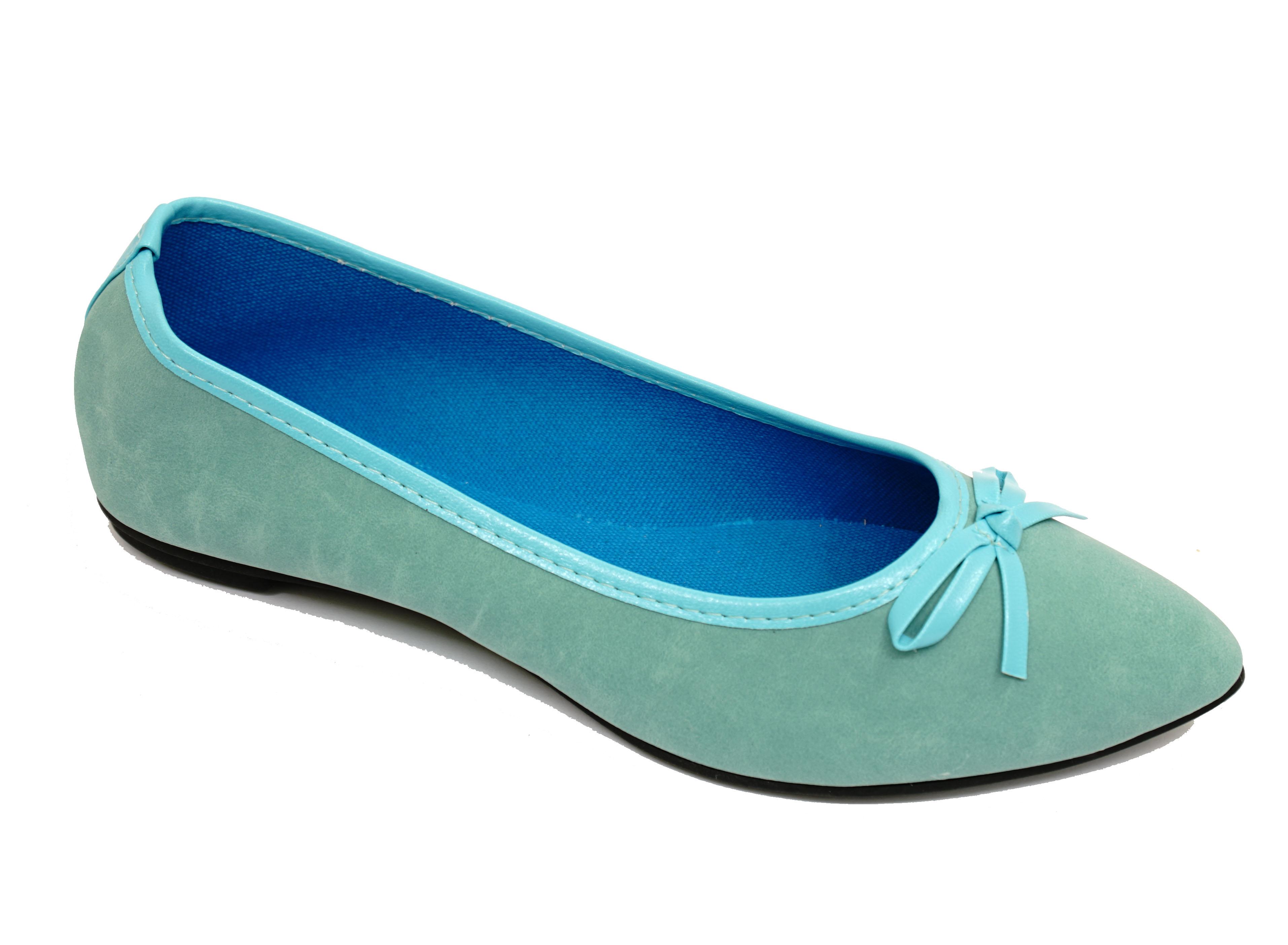 Mujer Plano Azul Sin Cordones Zapatos Muñequita Cómodo Ballet Bailarina