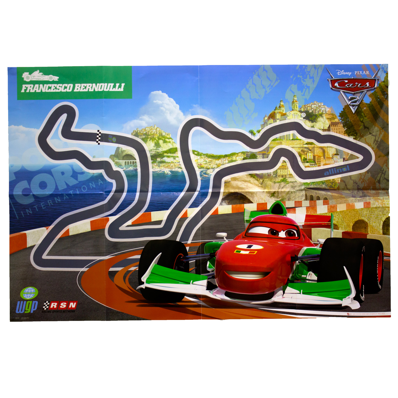 Disney Cars 2 Poster Kids Wall Art Pack Film Characters ...