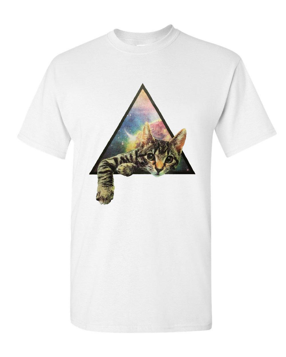 Galaxy-Gatto-T-Shirt-Gattino-Carino-Animali-Universo-Maglietta-in-Cotone