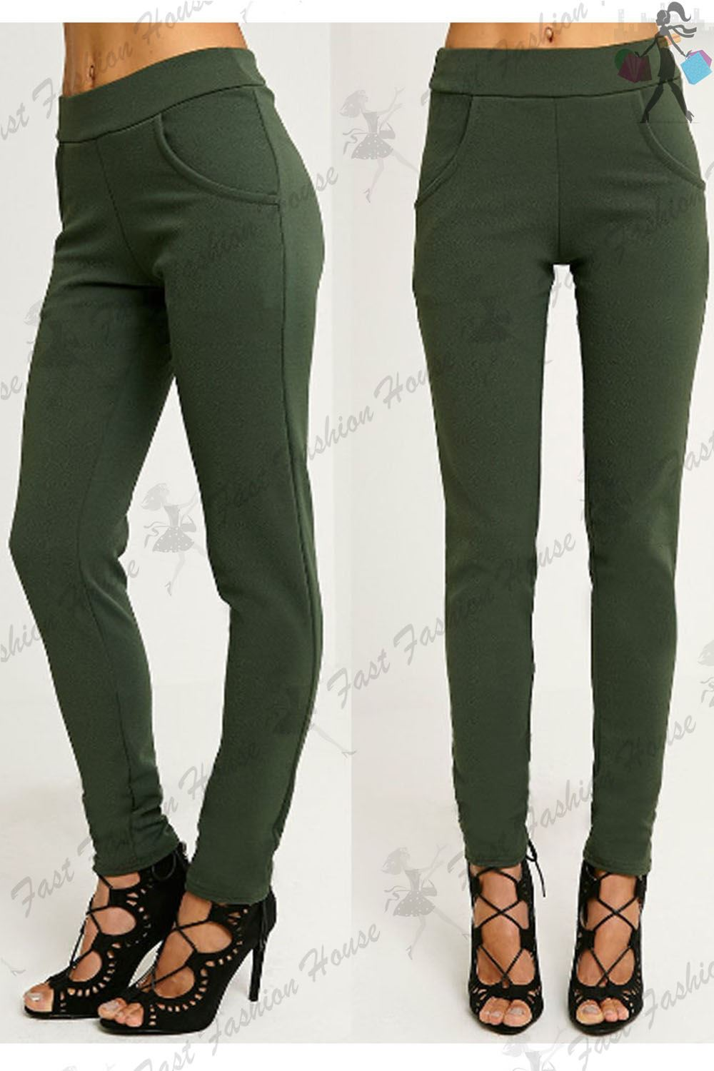 Elegant Stretch Cotton Cigarette Trousers By Dolce Amp Gabbana  Casual Trousers
