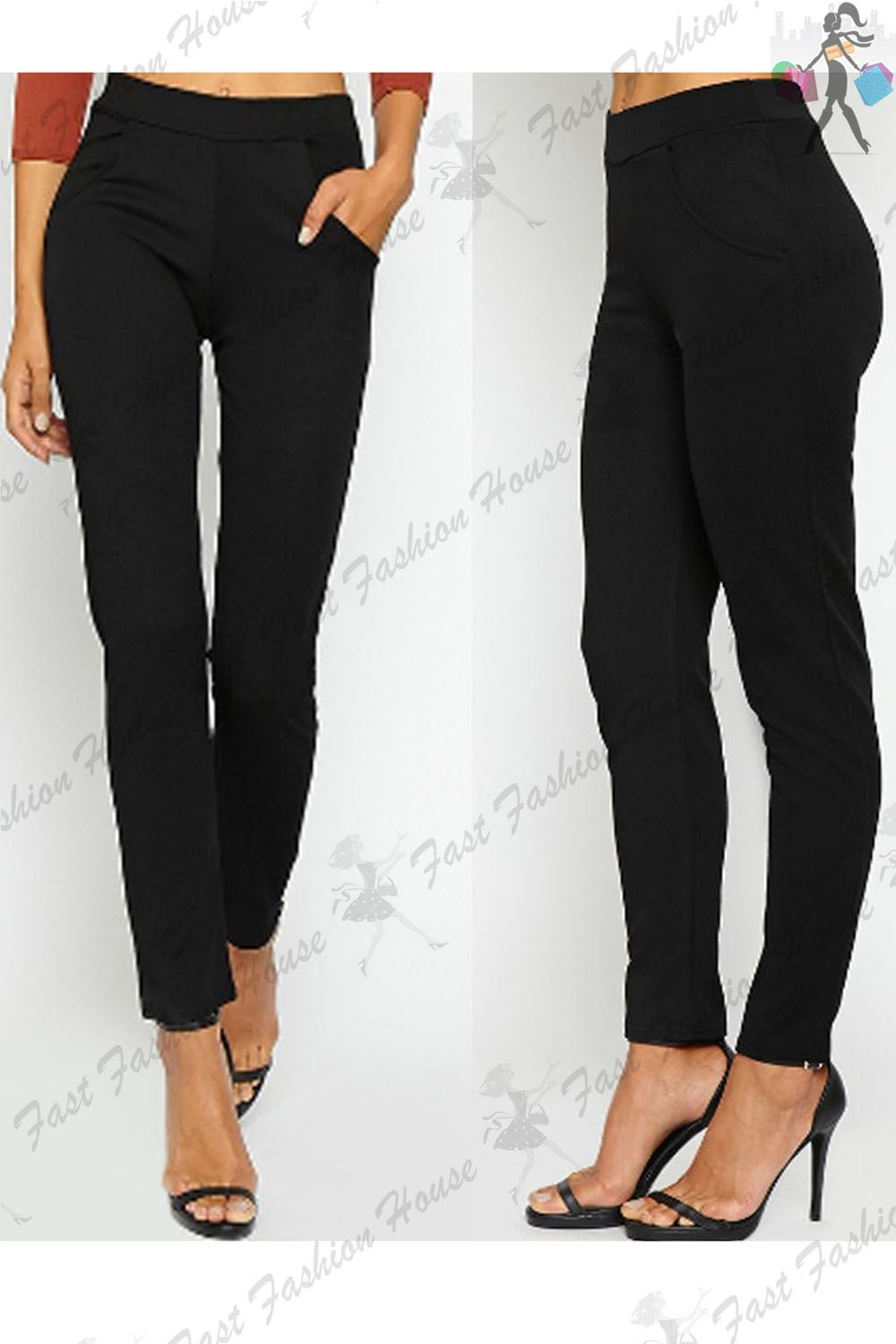 Popular Stretch Cotton Cigarette Trousers By Dolce Amp Gabbana  Casual Trousers
