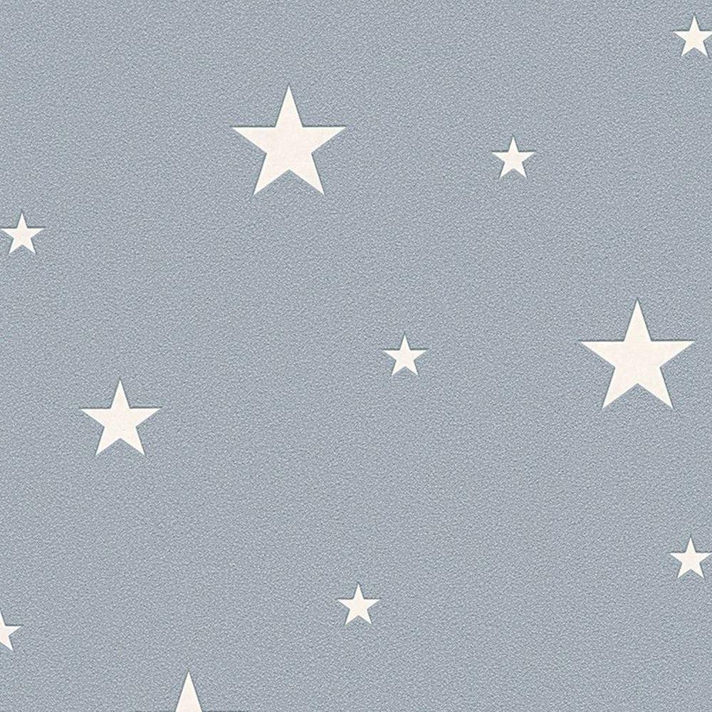 As kreation fluoreszierend sterne tapete wandtapete grau for Wandtapete grau