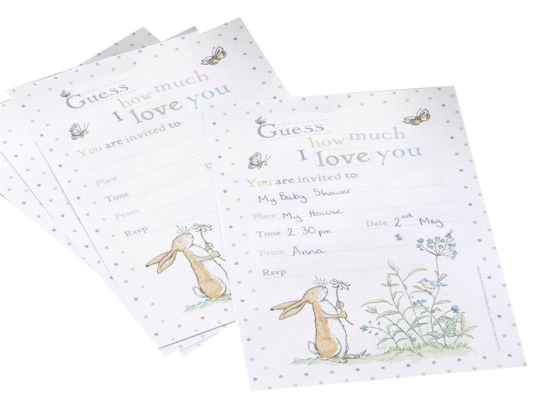 Baby Shower Invitations Cards & Thank you Cards Party Envelopes Boy ...