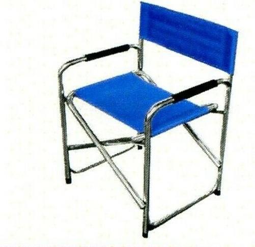 Scène Chaise Pliante Bleu Mod Sur Pliable Metteur Aluminium Détails Fauteuil En H9YEDIW2