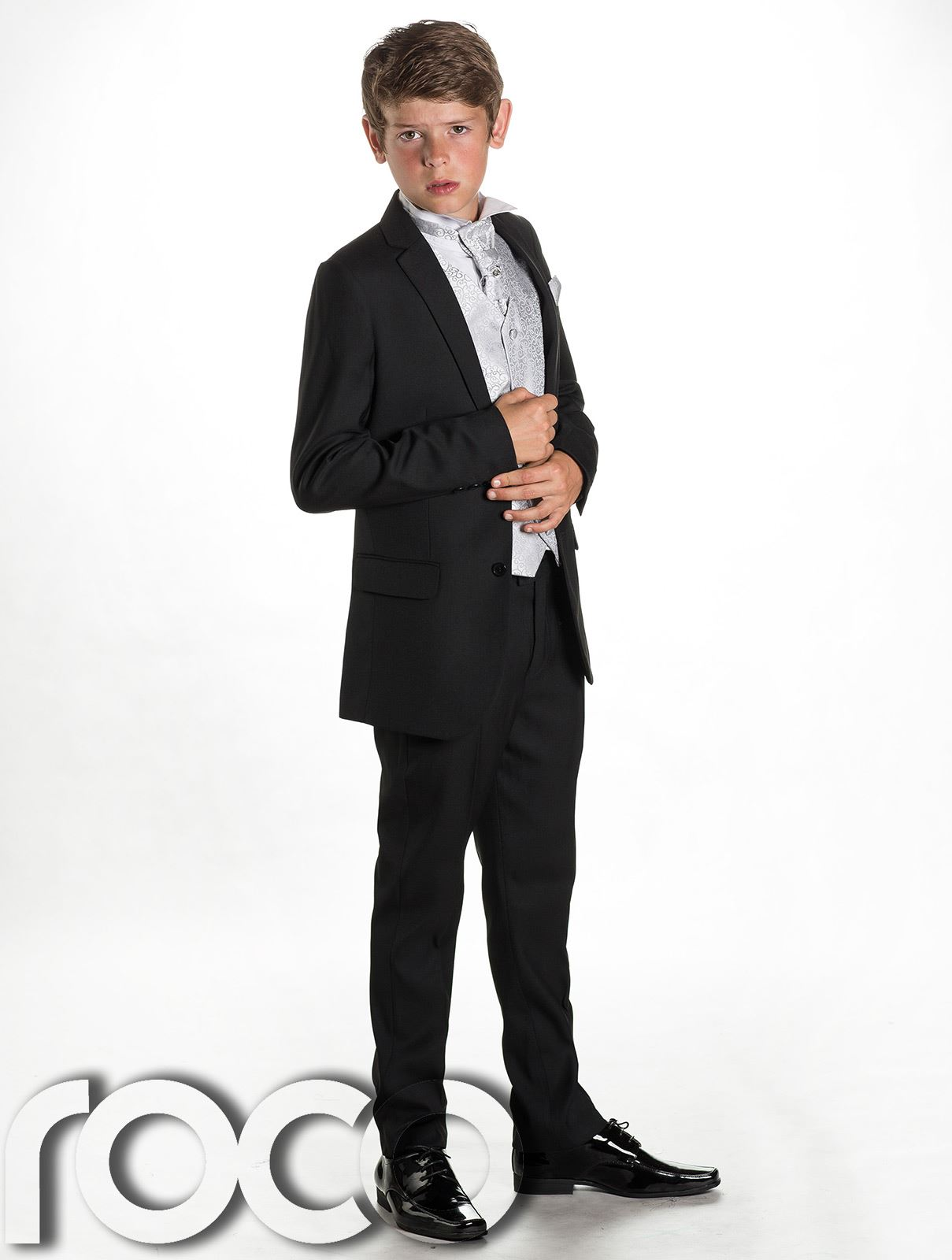 Boys Black Wedding Suit, Page Boy Suit, Boys Formal Suit, Black Suit ...