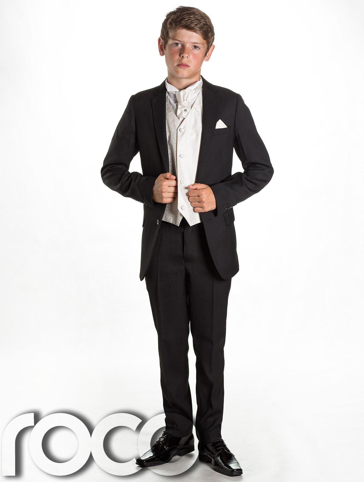 Boys Black Wedding Suit, Page Boy Suit, Boys Formal Suit, Black Suit ...