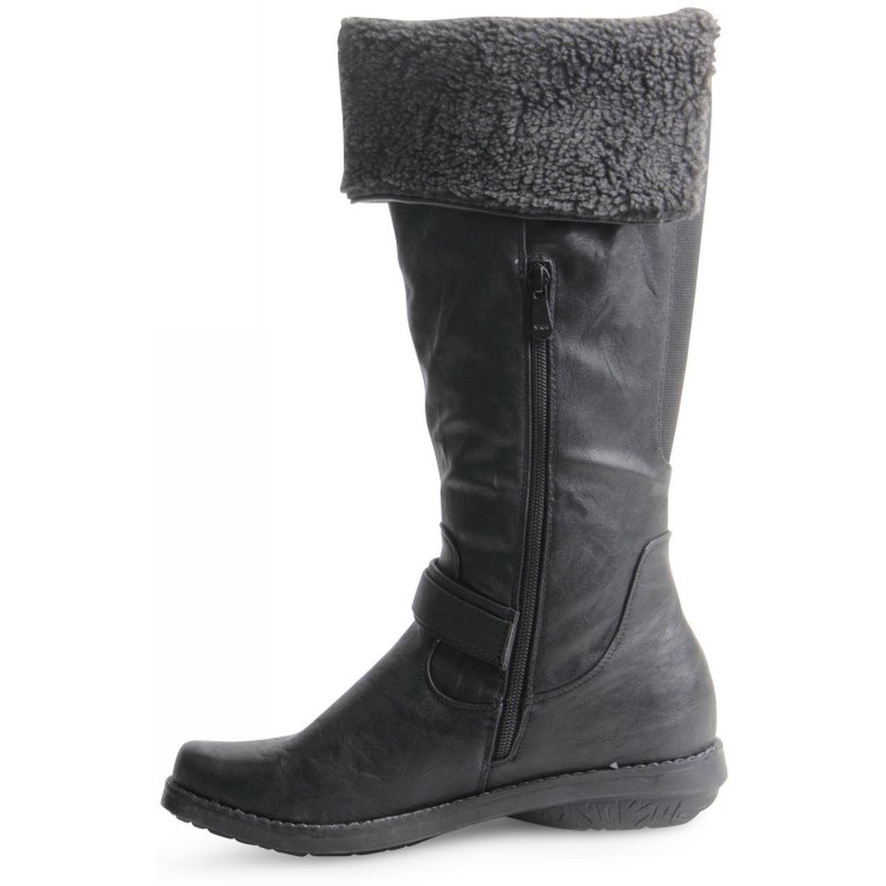 Scarpe Caldo Donna Stivali Invernali Gherone Pieghevole Zip Elasticizzato Stile Rqwq1