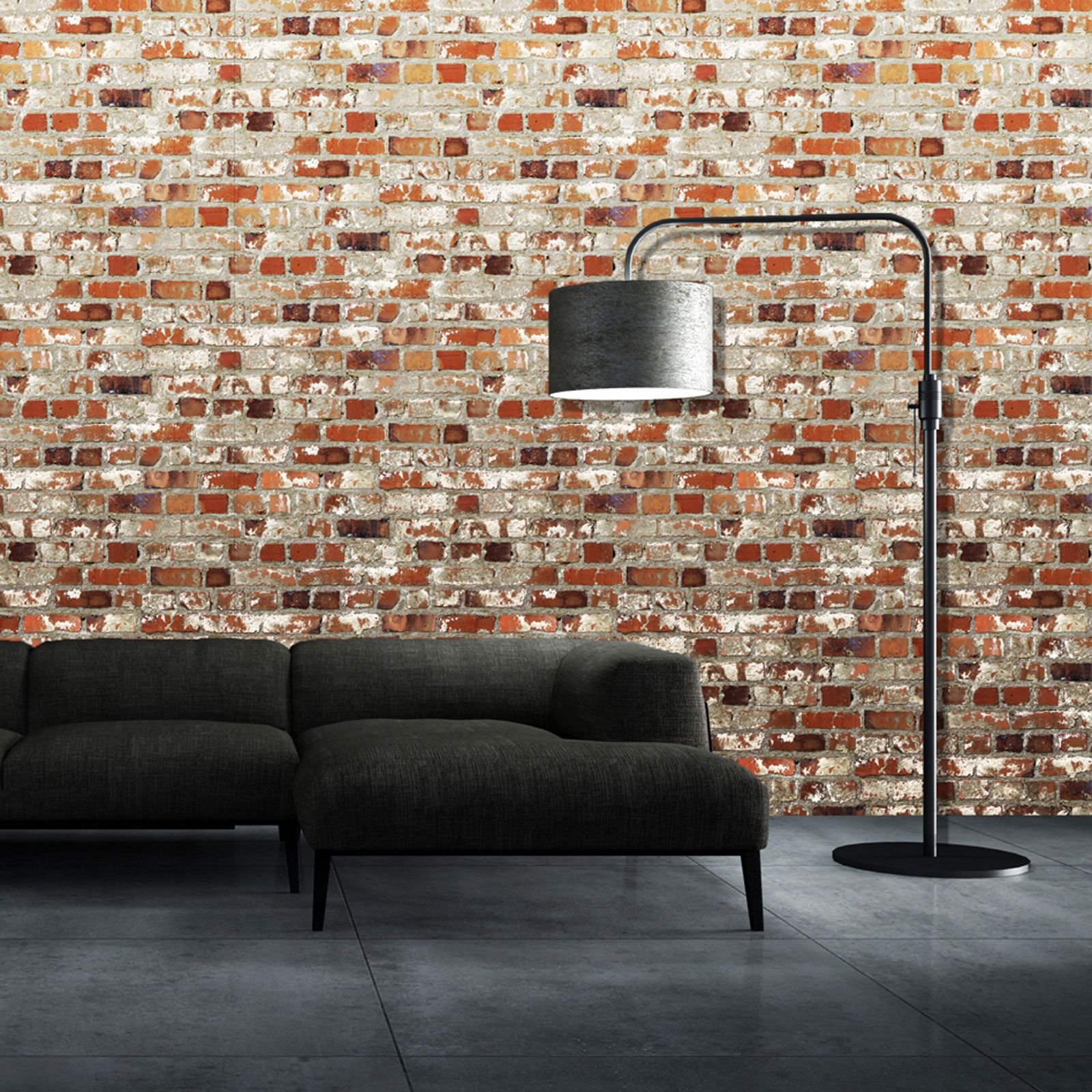 Kids Rooms Decorating Ideas Red Brick Wallpaper: RED BRICK EFFECT REALISTIC WALLPAPER ROOM DECOR FEATURE
