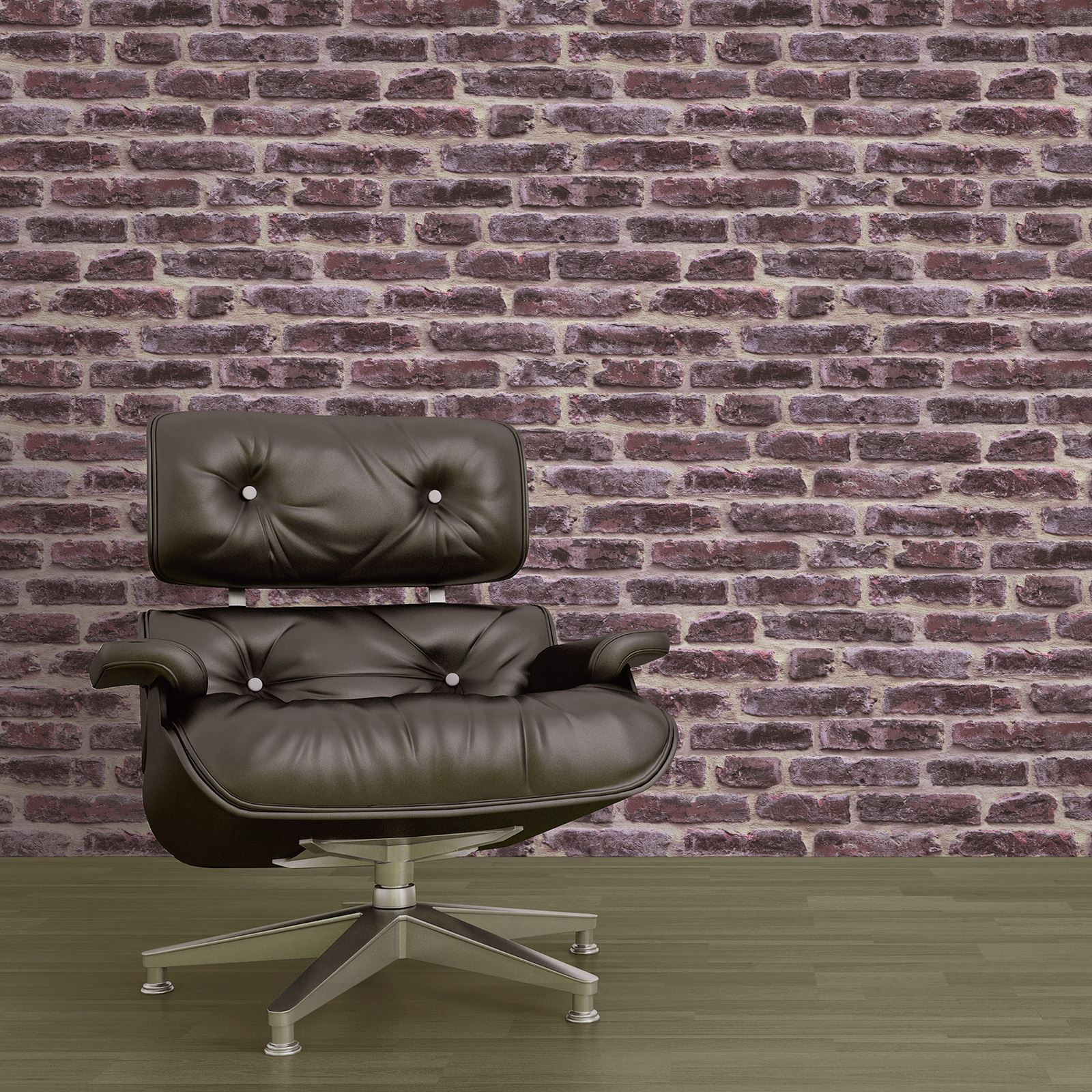 RED BRICK EFFECT REALISTIC WALLPAPER ROOM DECOR FEATURE ...