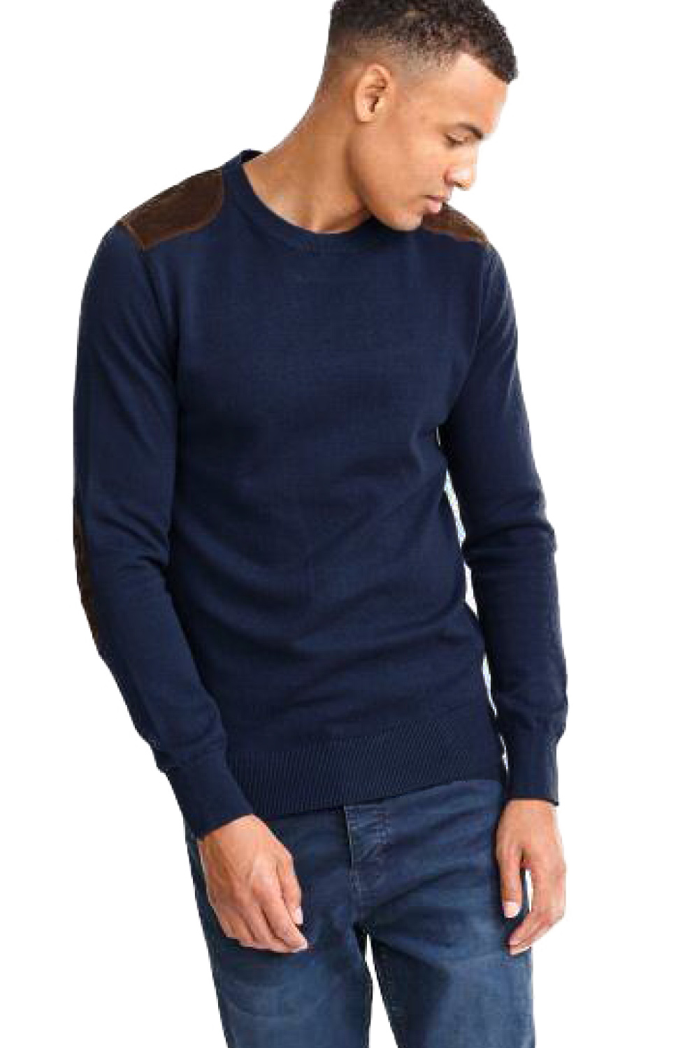 Brave-Soul-Mens-Dalif-Crew-Neck-Jumper-Cotton-Knitted-Corduroy-Detailed-Sweater thumbnail 3