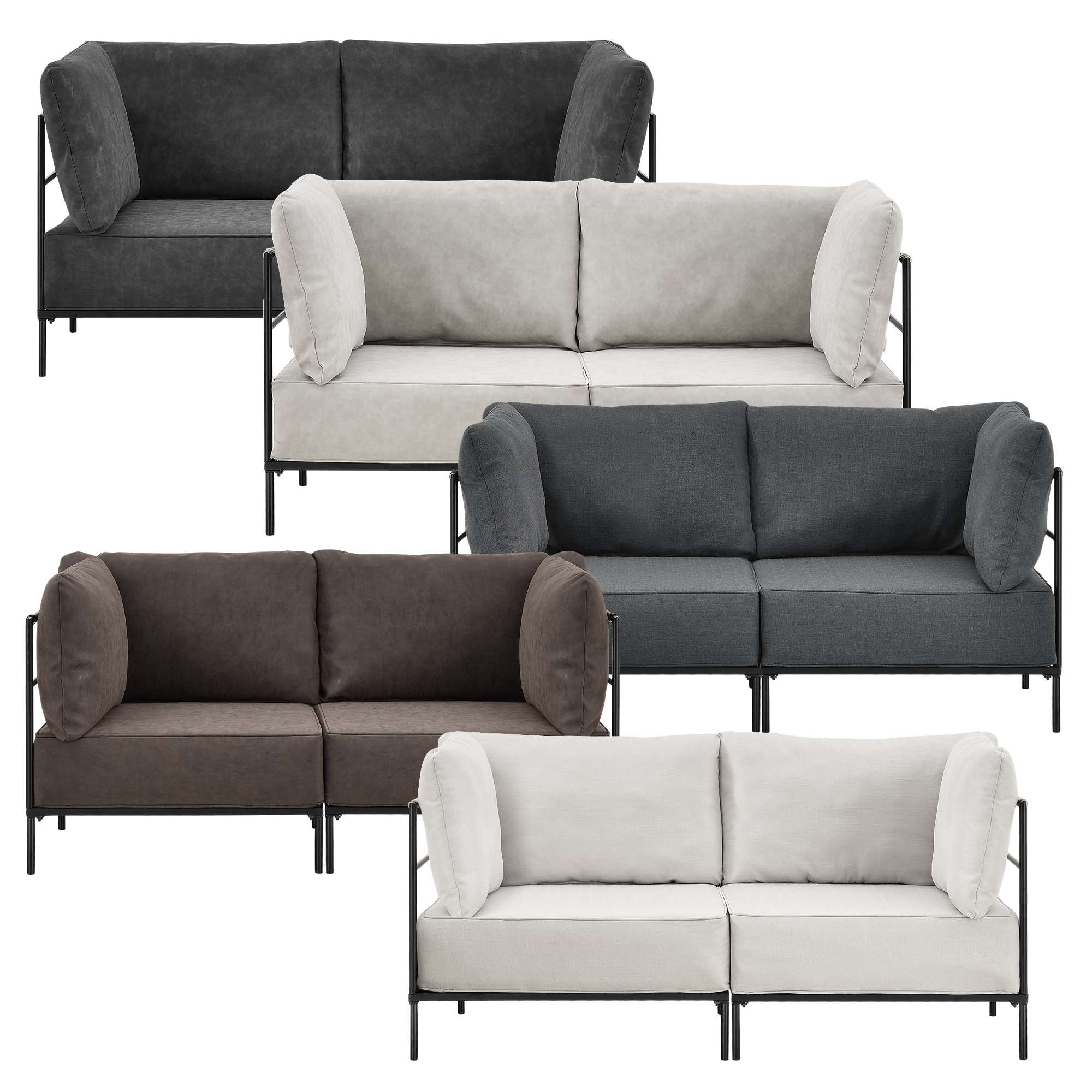 Sofa couch chair sofa interior design set imitation leather ebay Polsterkissen sofa
