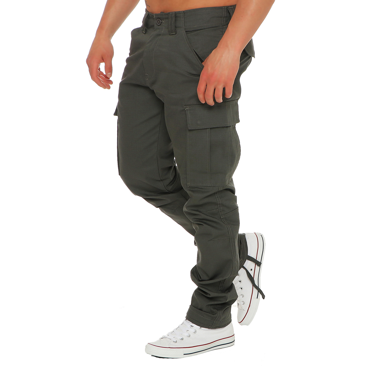 finchman-Hombre-Cargo-f1001-Pantalon-Pantalones-Calzoncillos-Informales-Ajuste