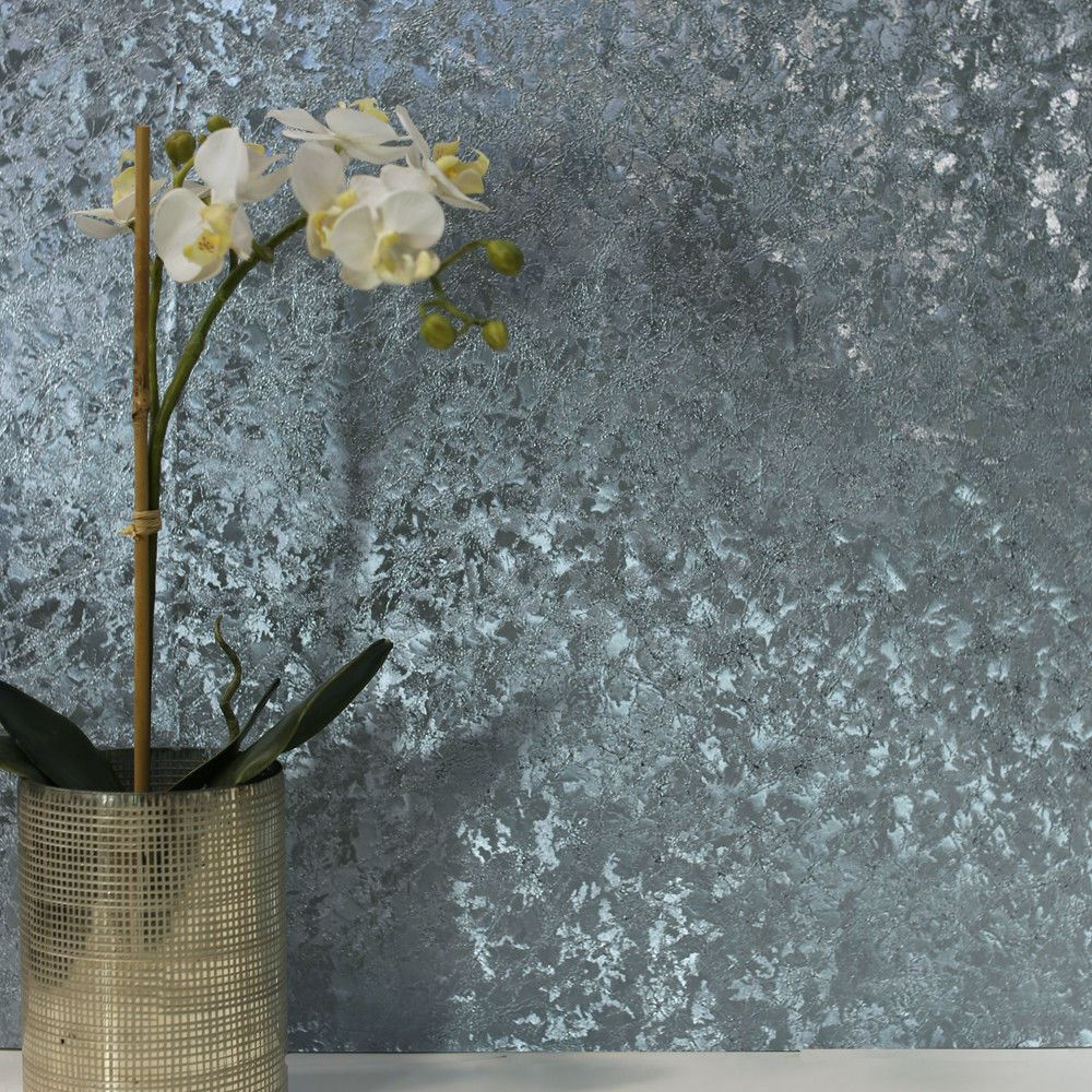 Au Naturelle Vinyl Wallcovering: ARTHOUSE VELVET CRUSH FOIL METALLIC VINYL WALLPAPER