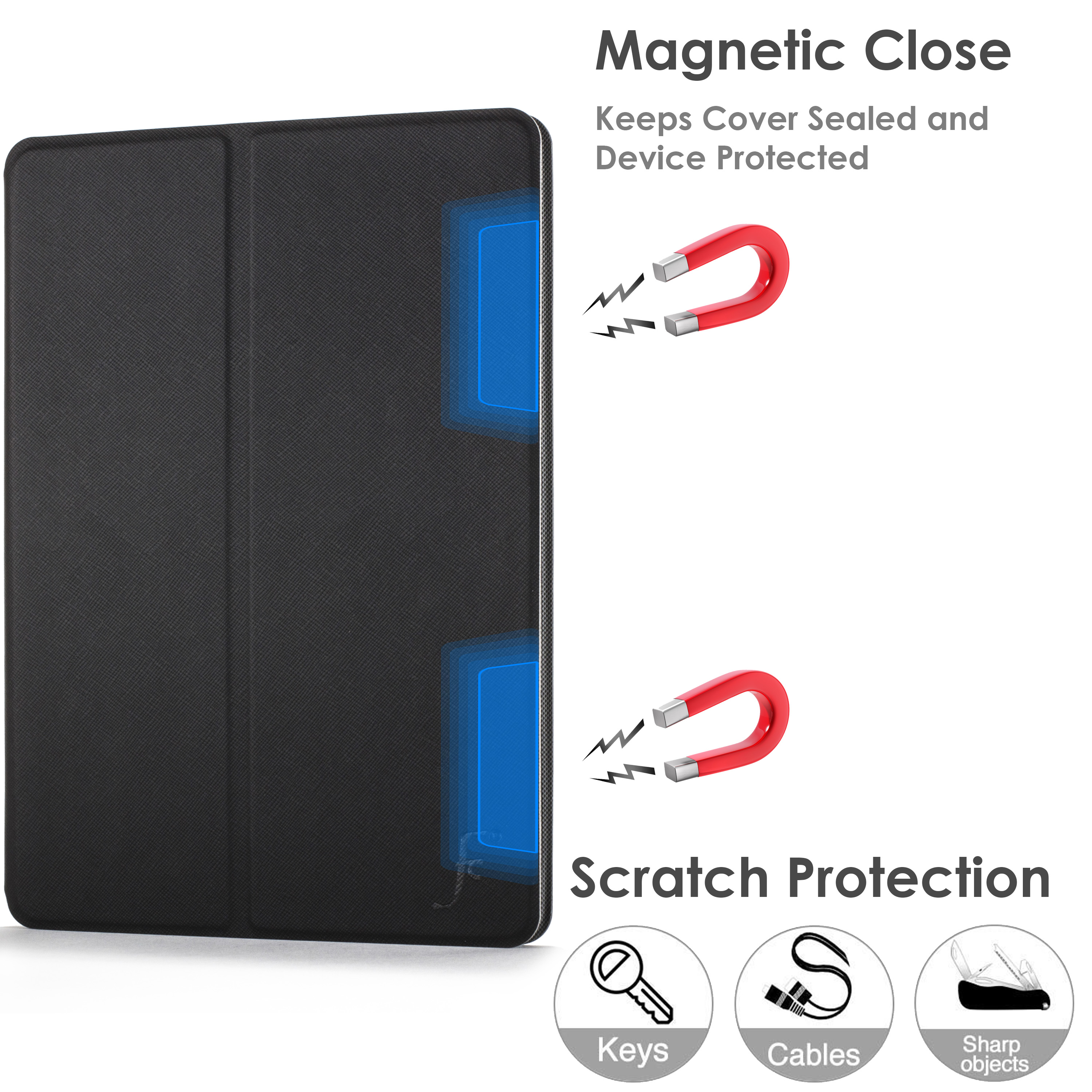 miniature 7 - Samsung Galaxy Tab A 10.1 2019 Étui Magnétique Protection & Support + Stylet