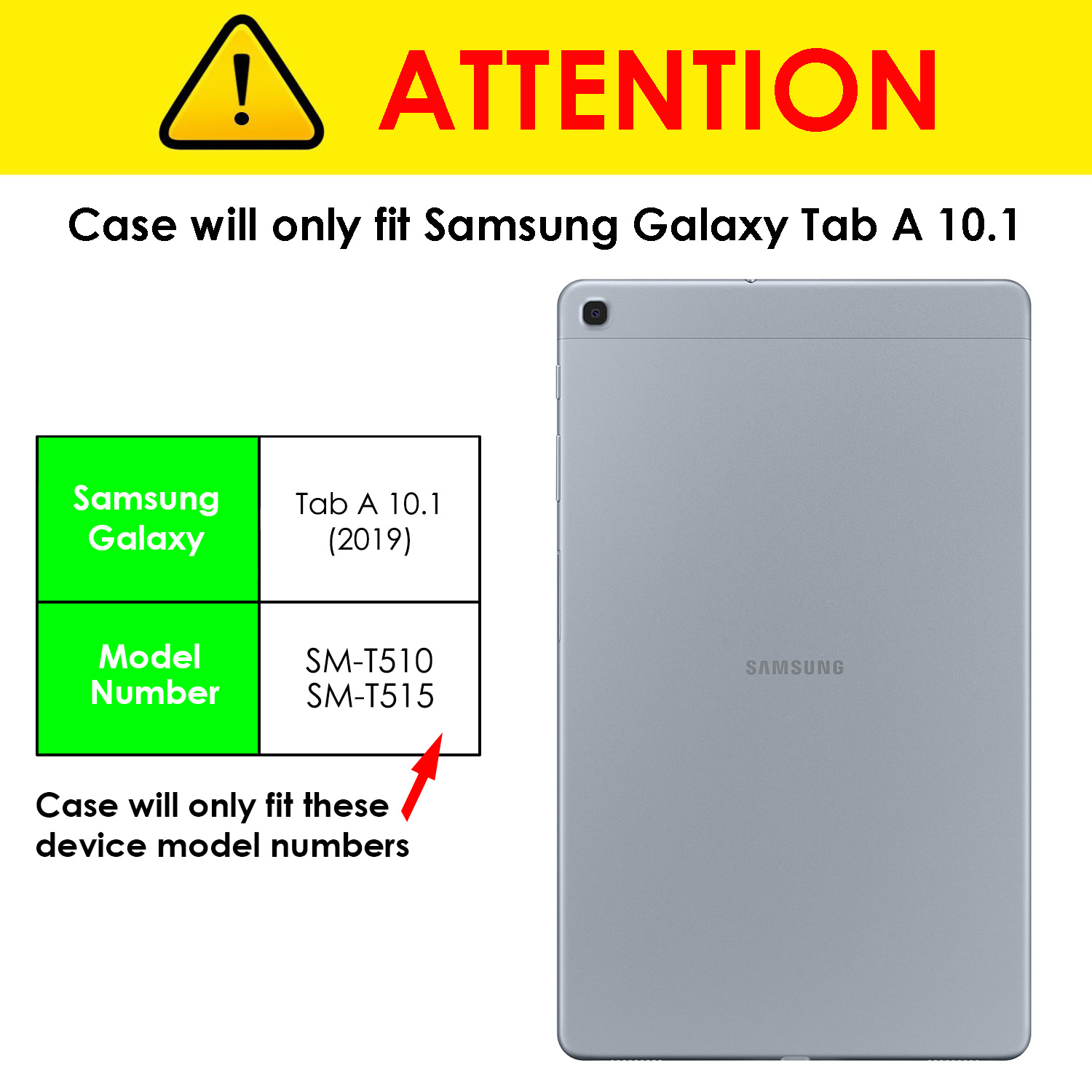 miniature 12 - Samsung Galaxy Tab A 10.1 2019 Étui Magnétique Protection & Support + Stylet