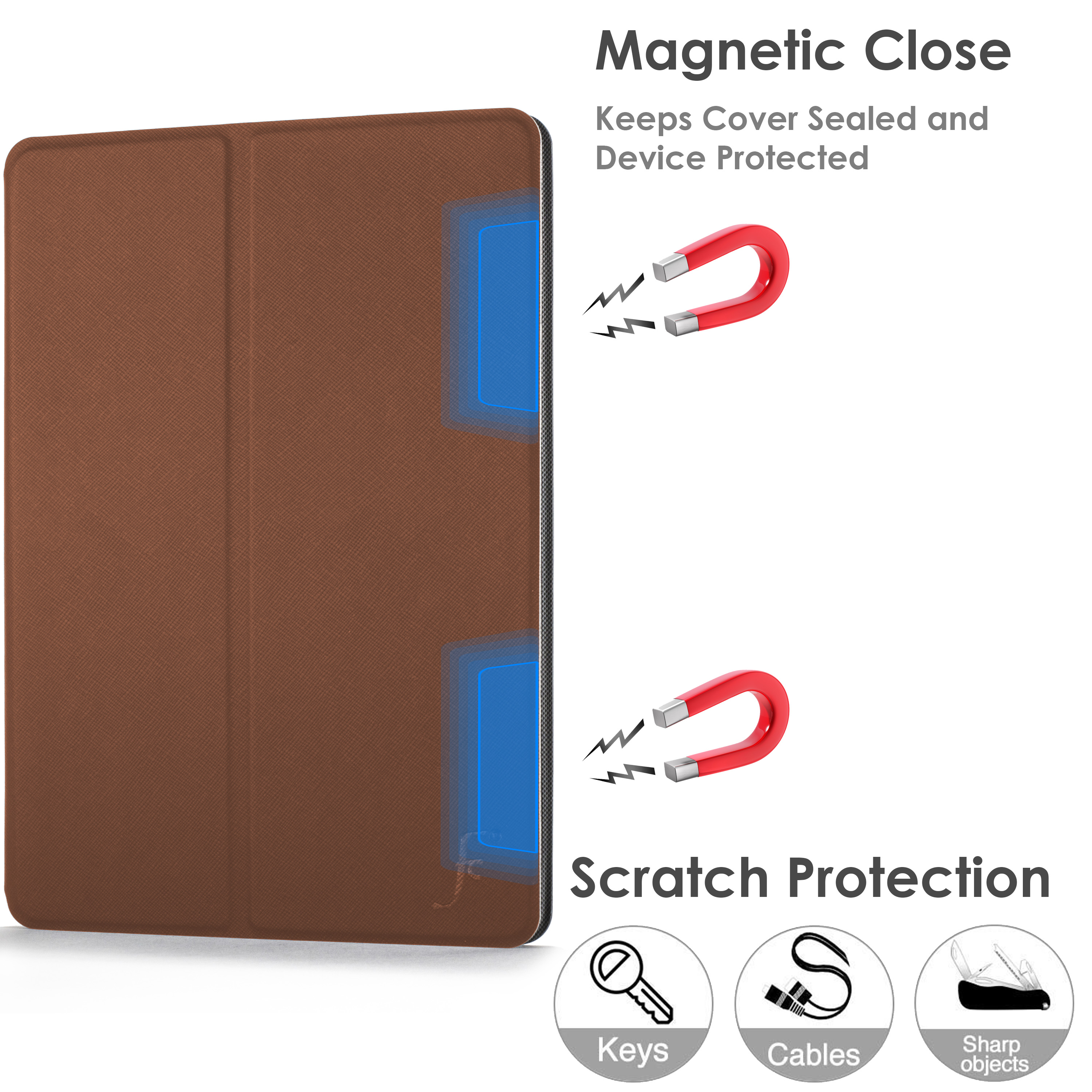 miniature 15 - Samsung Galaxy Tab A 10.1 2019 Étui Magnétique Protection & Support + Stylet