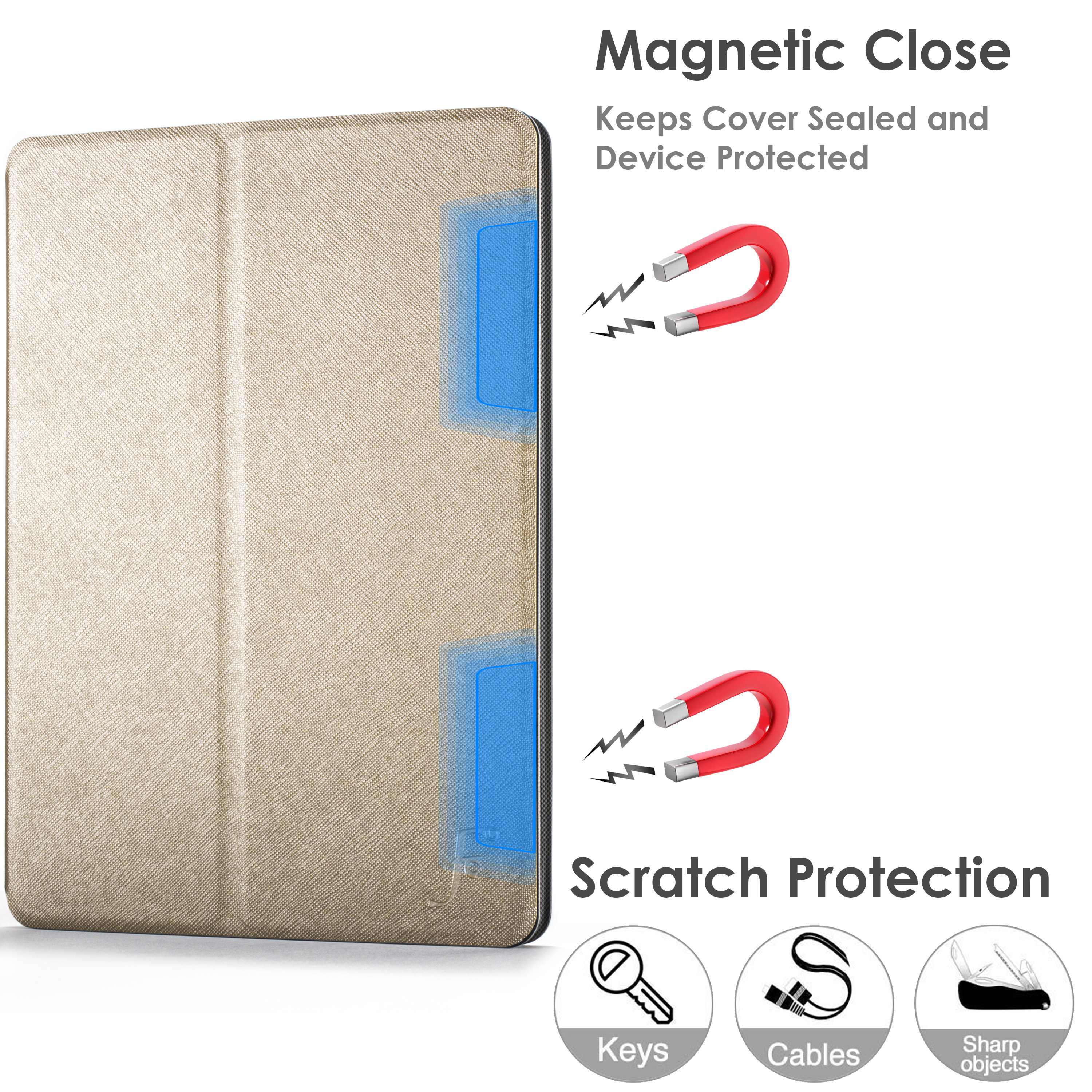 miniature 23 - Samsung Galaxy Tab A 10.1 2019 Étui Magnétique Protection & Support + Stylet