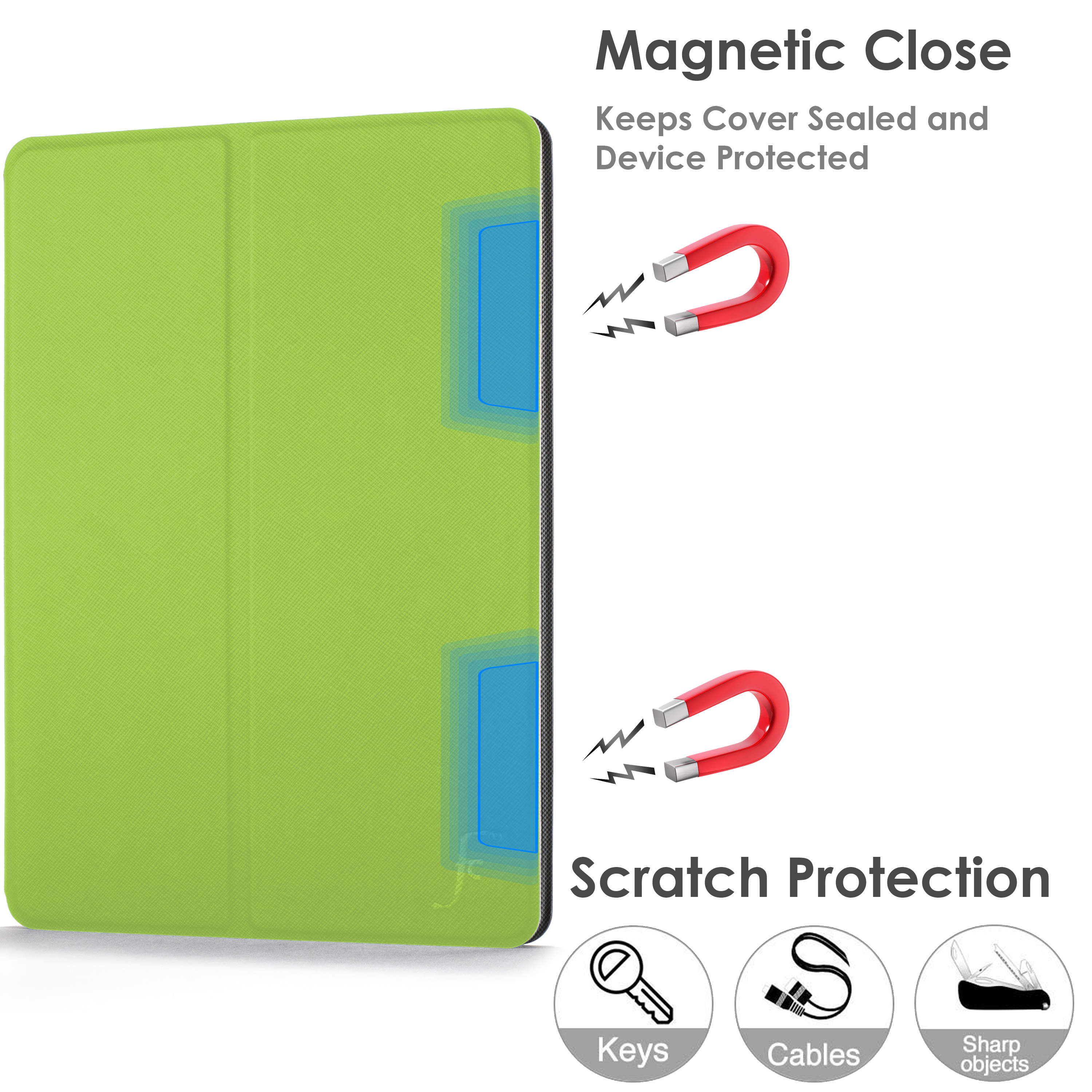 miniature 31 - Samsung Galaxy Tab A 10.1 2019 Étui Magnétique Protection & Support + Stylet