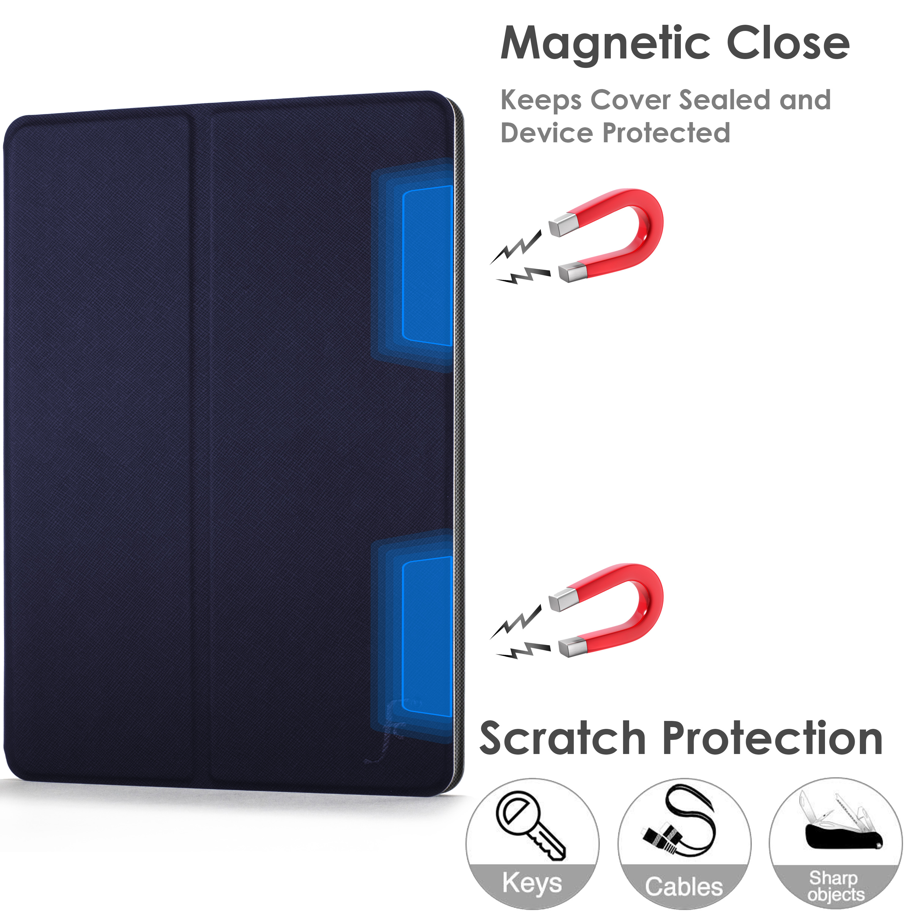 miniature 39 - Samsung Galaxy Tab A 10.1 2019 Étui Magnétique Protection & Support + Stylet