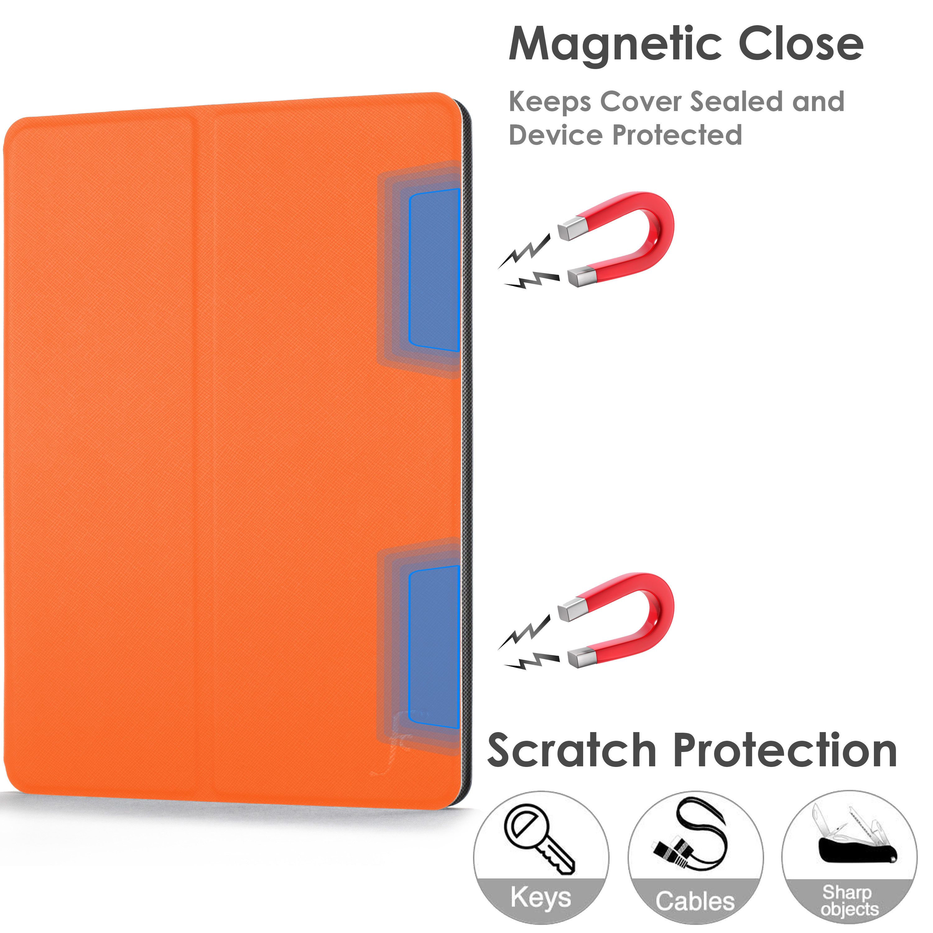miniature 47 - Samsung Galaxy Tab A 10.1 2019 Étui Magnétique Protection & Support + Stylet