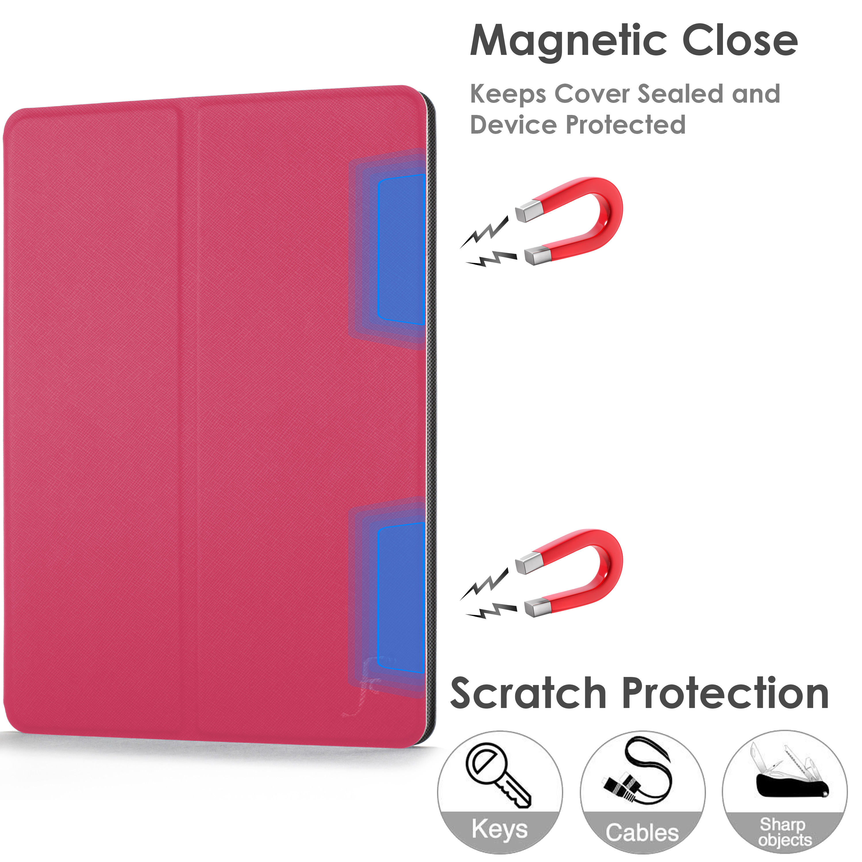 miniature 55 - Samsung Galaxy Tab A 10.1 2019 Étui Magnétique Protection & Support + Stylet