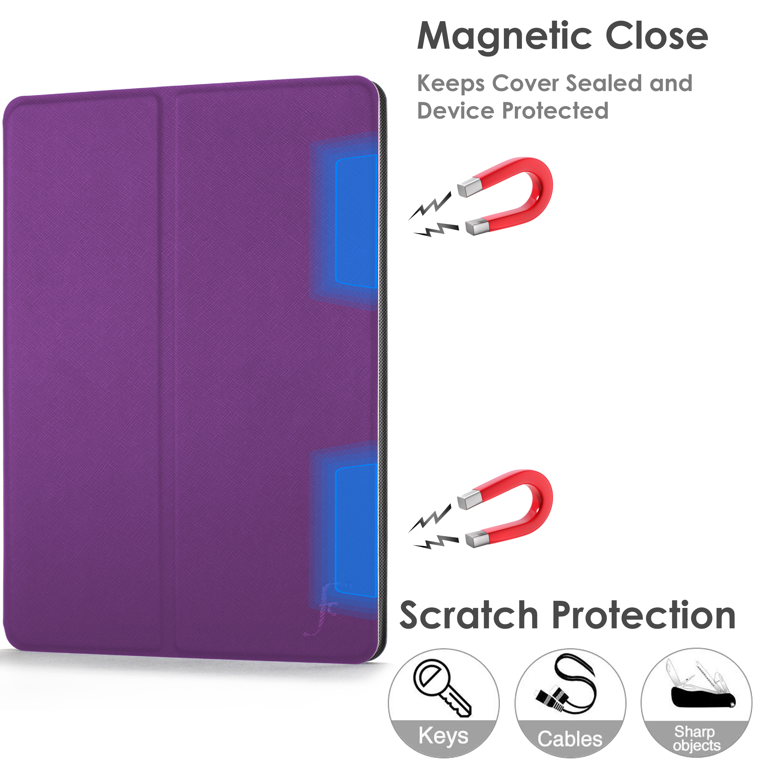 miniature 63 - Samsung Galaxy Tab A 10.1 2019 Étui Magnétique Protection & Support + Stylet