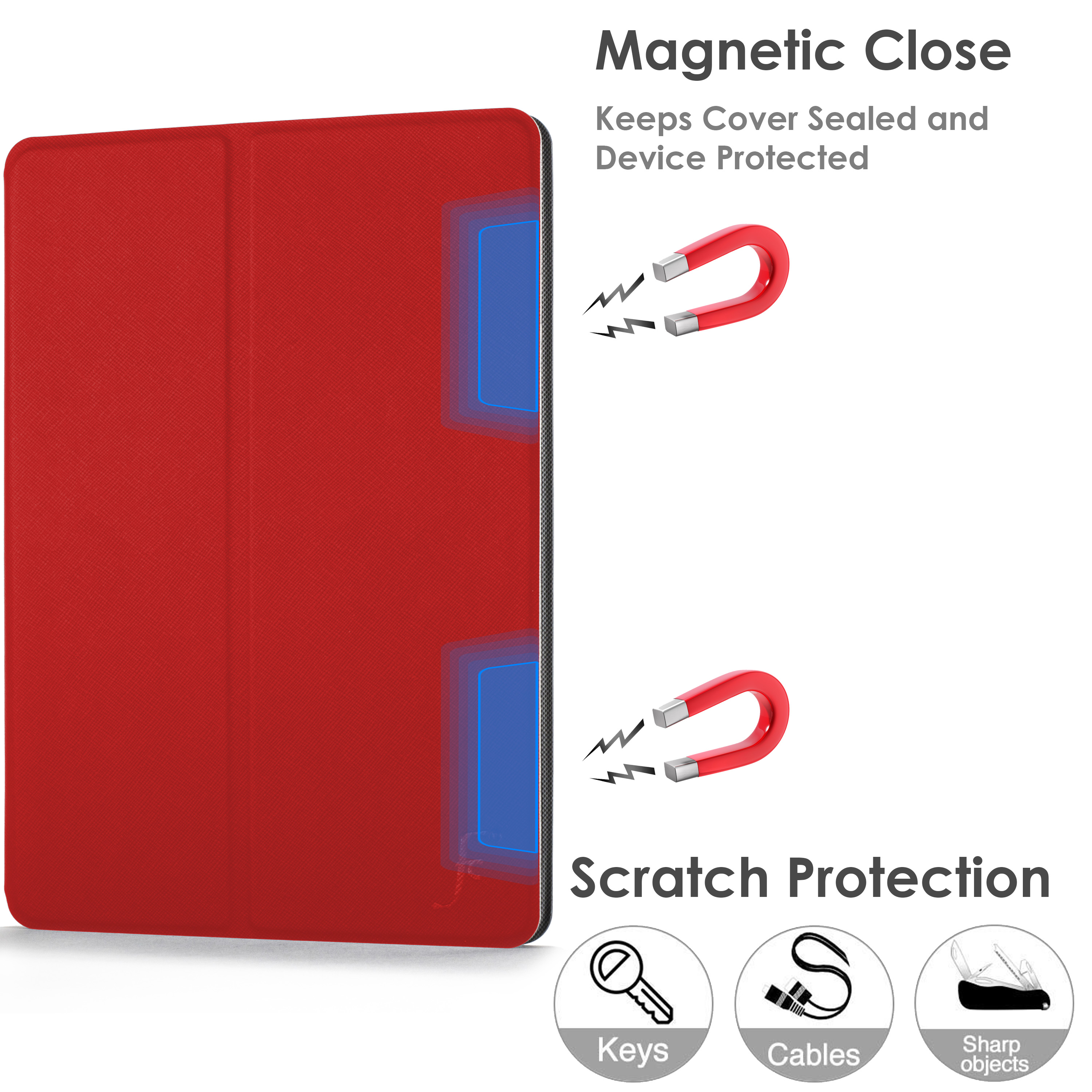 miniature 71 - Samsung Galaxy Tab A 10.1 2019 Étui Magnétique Protection & Support + Stylet