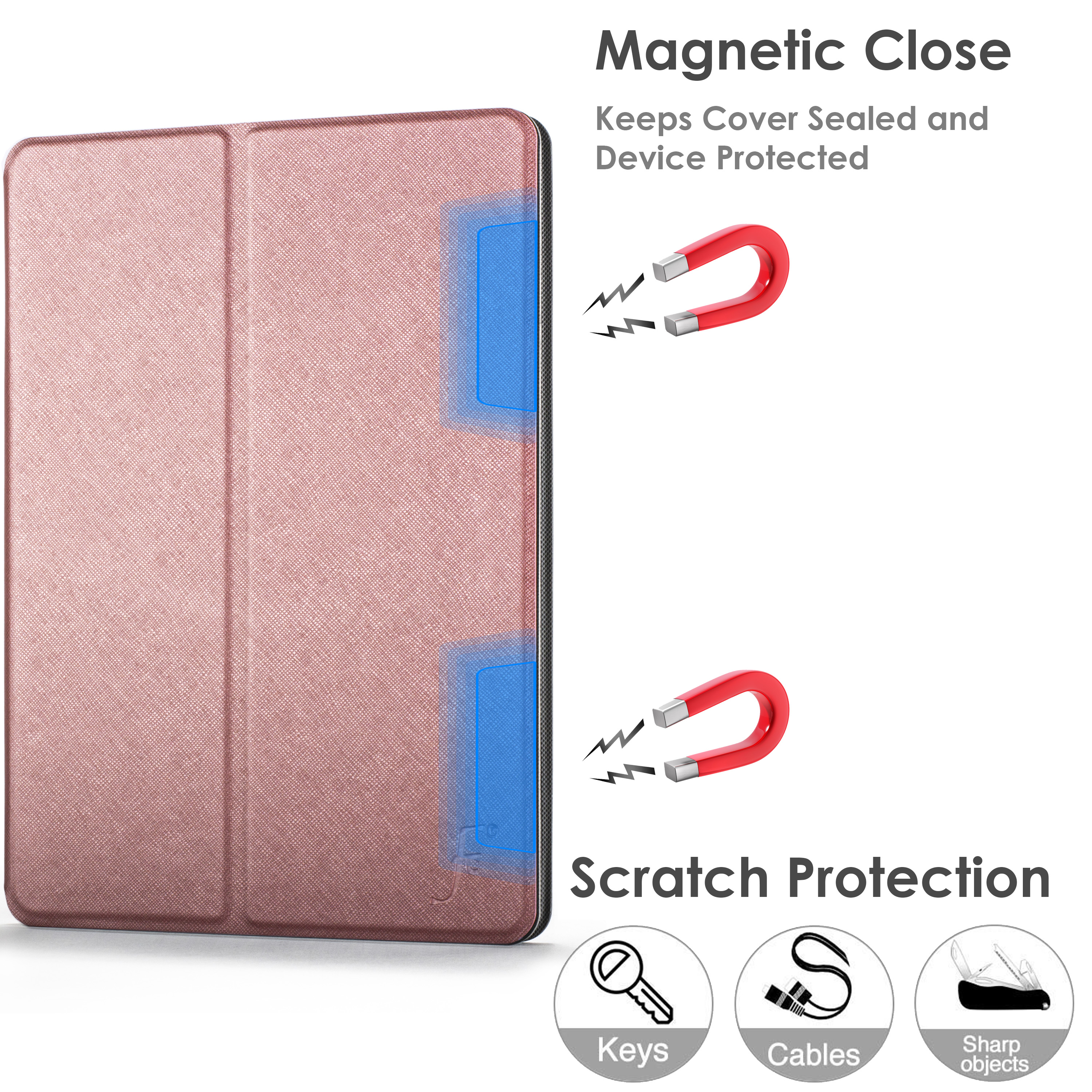 miniature 79 - Samsung Galaxy Tab A 10.1 2019 Étui Magnétique Protection & Support + Stylet