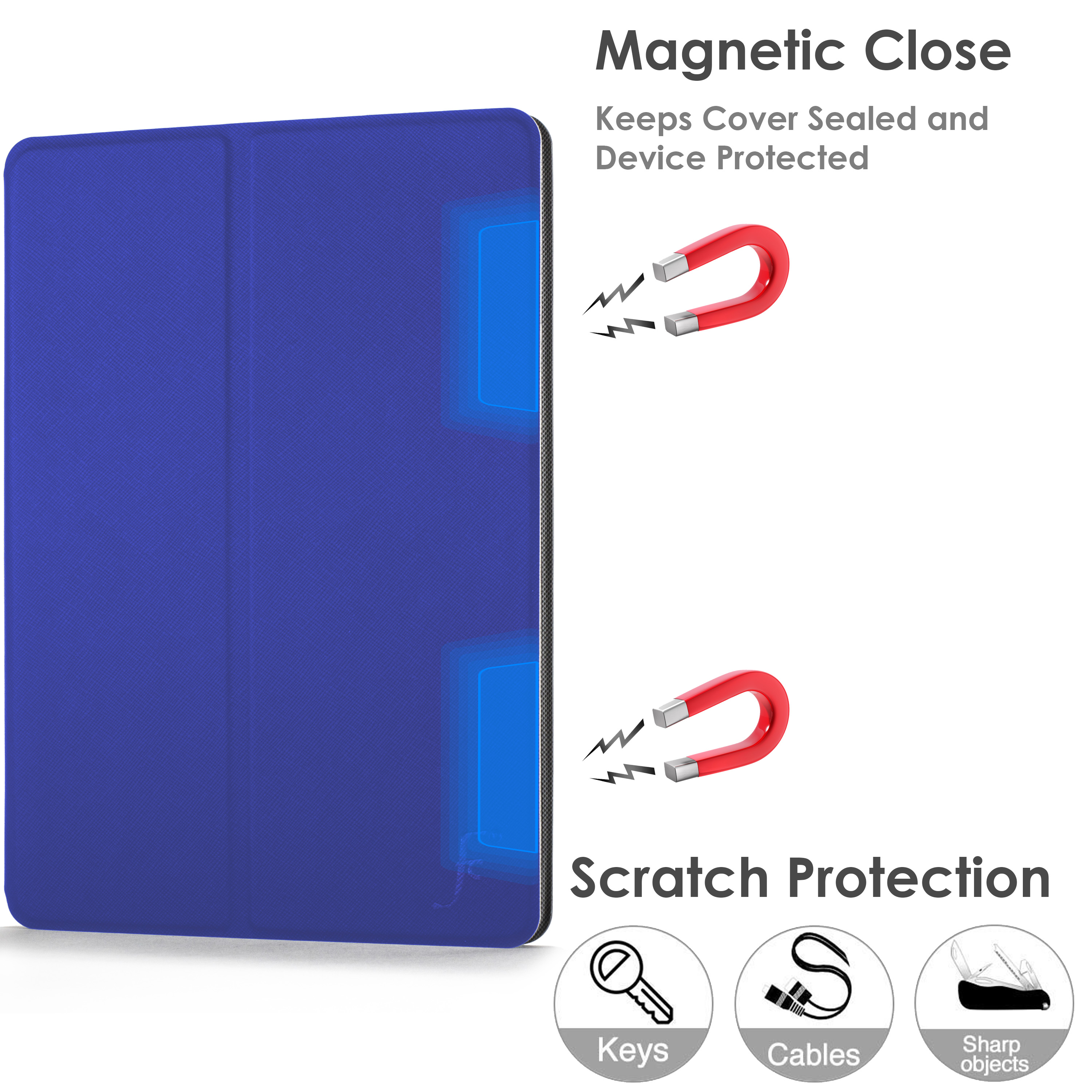miniature 87 - Samsung Galaxy Tab A 10.1 2019 Étui Magnétique Protection & Support + Stylet