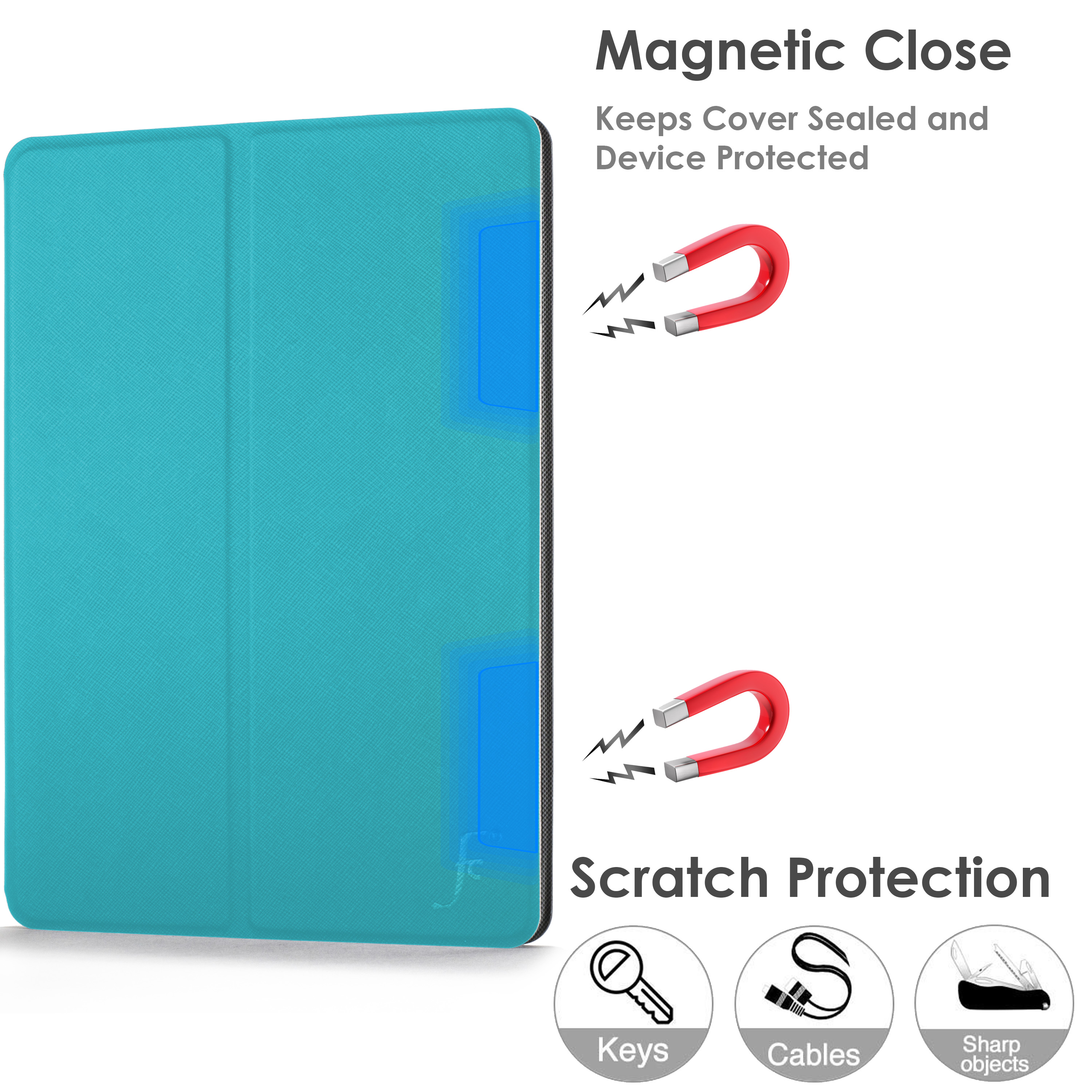 miniature 95 - Samsung Galaxy Tab A 10.1 2019 Étui Magnétique Protection & Support + Stylet