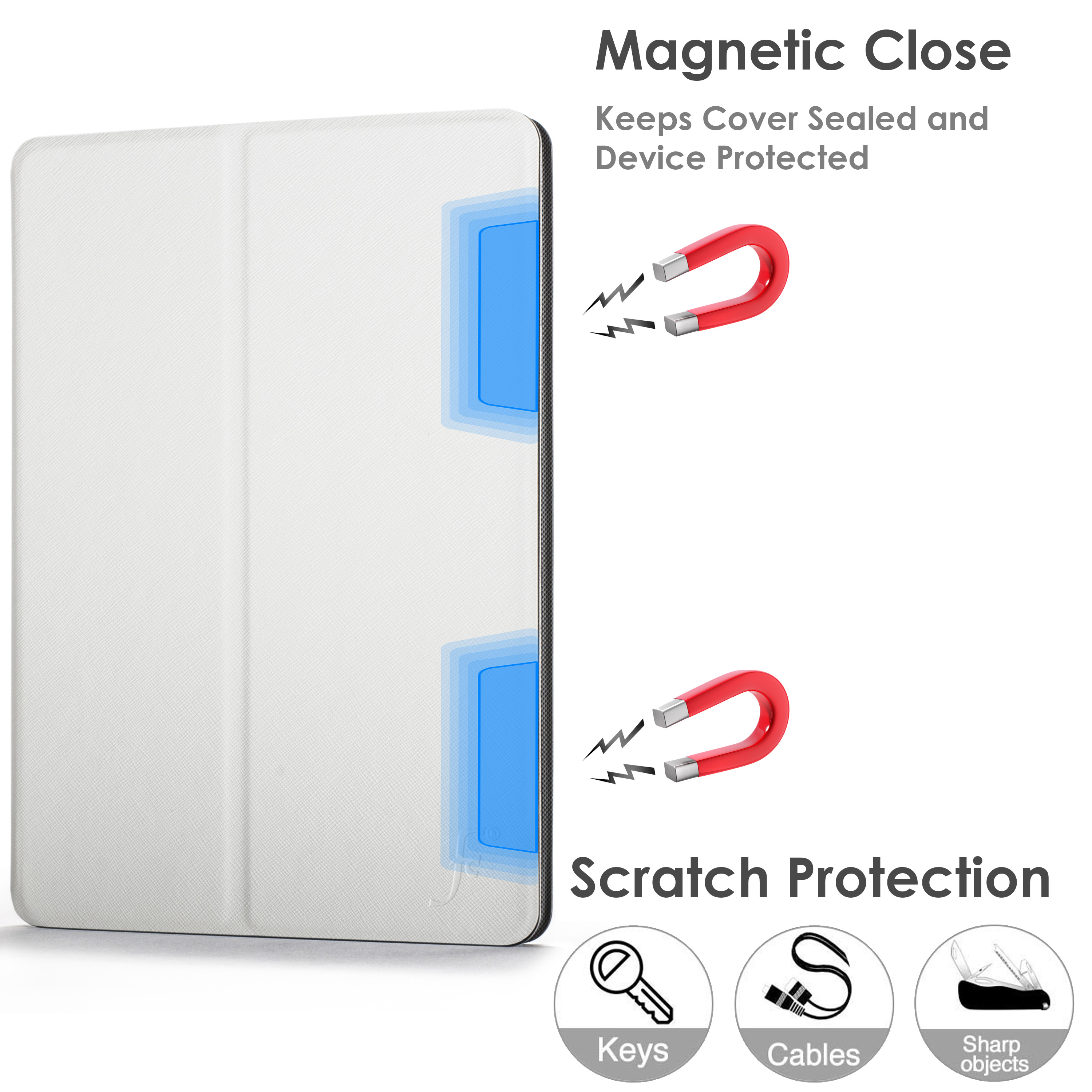 miniature 103 - Samsung Galaxy Tab A 10.1 2019 Étui Magnétique Protection & Support + Stylet