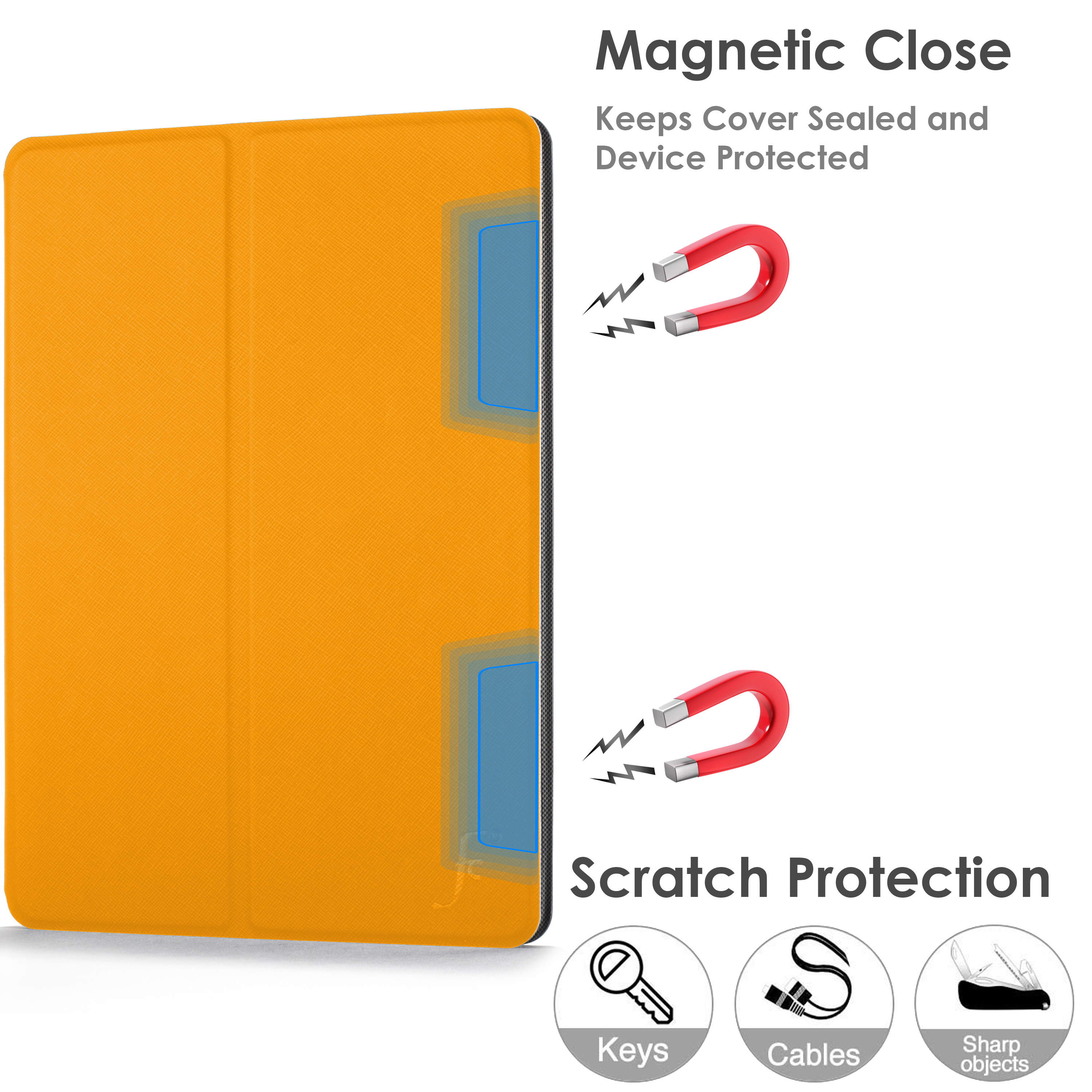 miniature 111 - Samsung Galaxy Tab A 10.1 2019 Étui Magnétique Protection & Support + Stylet