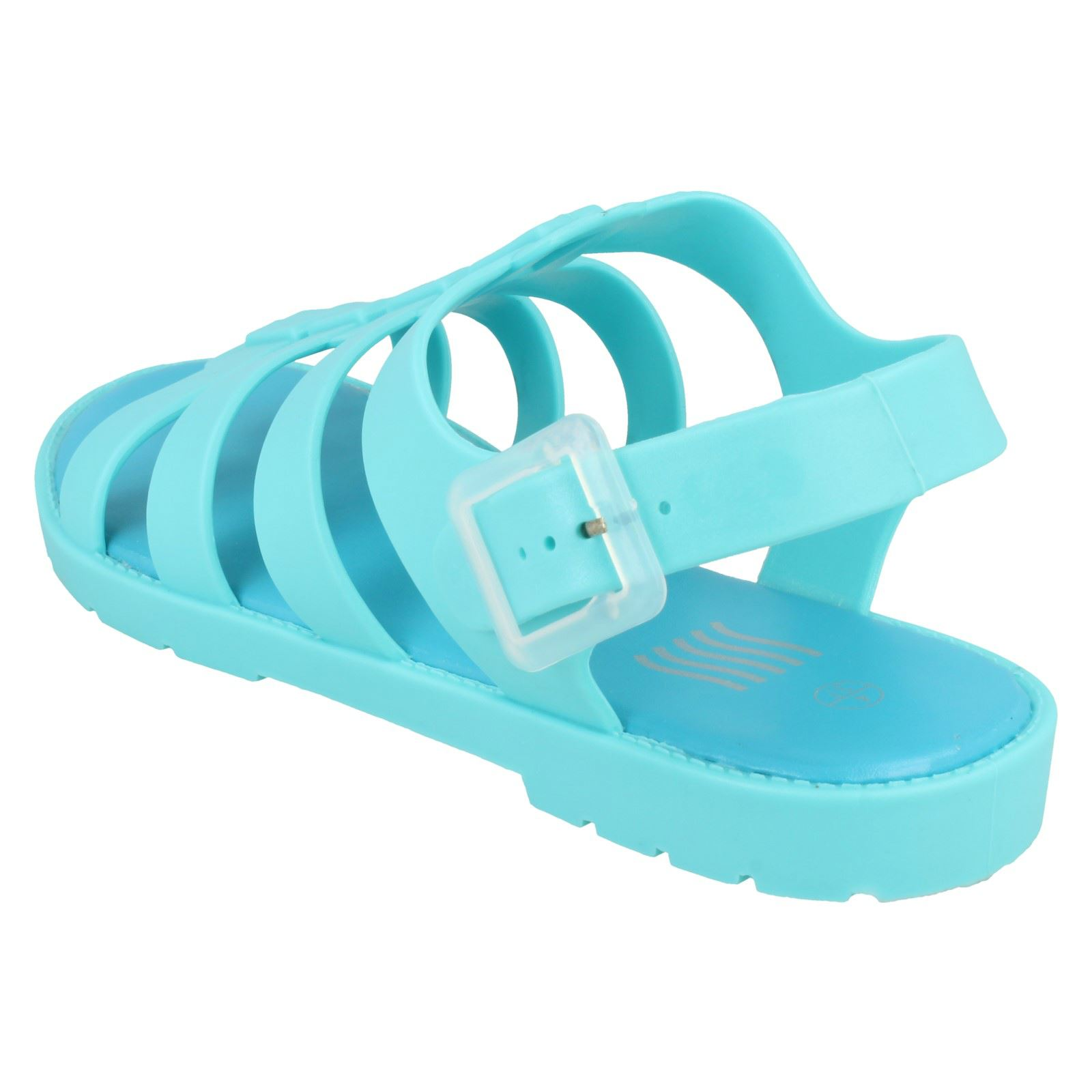 R27A Waves F0R837 Ladies PVC Jelly Sandals Pink UK3 to 8