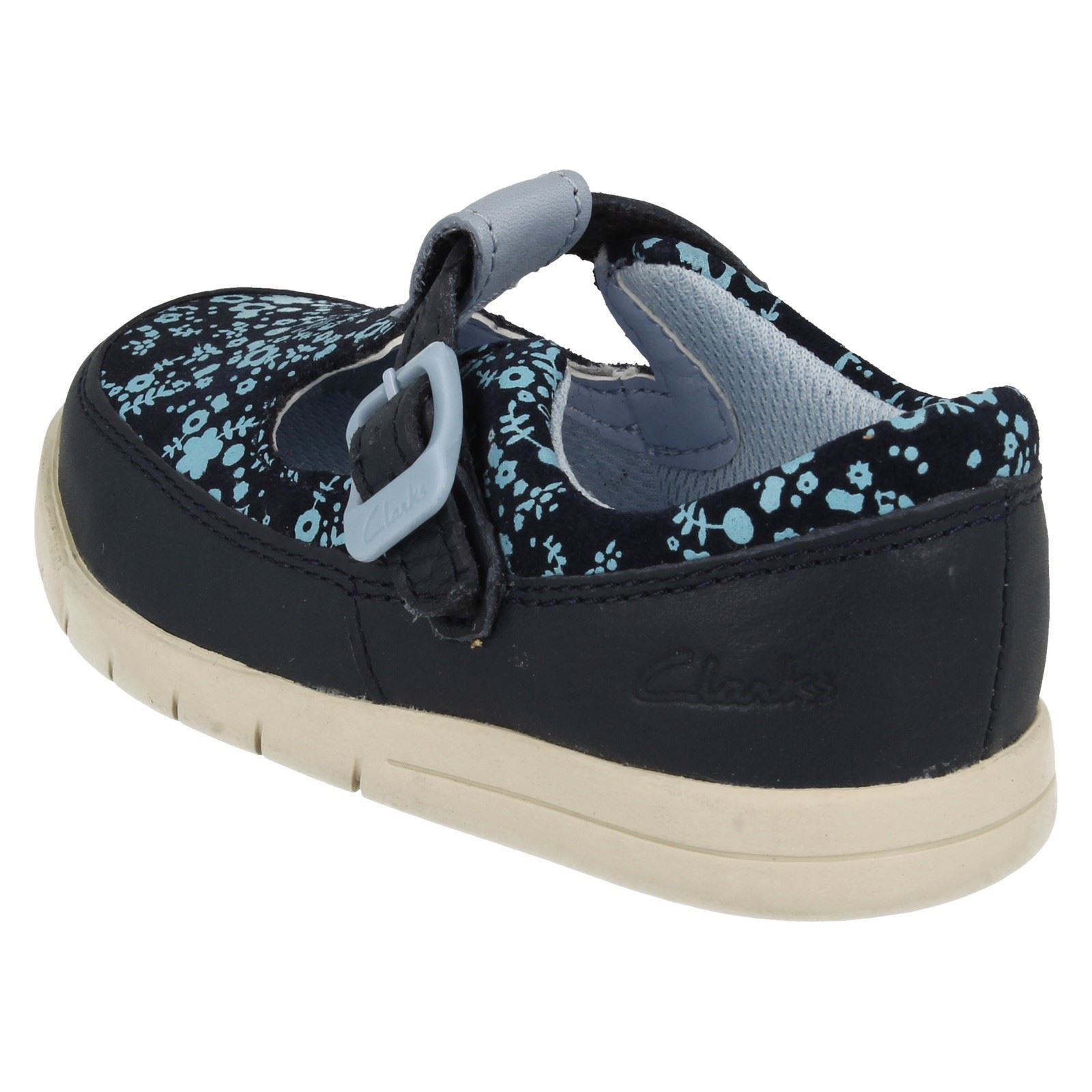 Infant Girls Clarks First T-Bar Shoes /'Crazy Tale/'