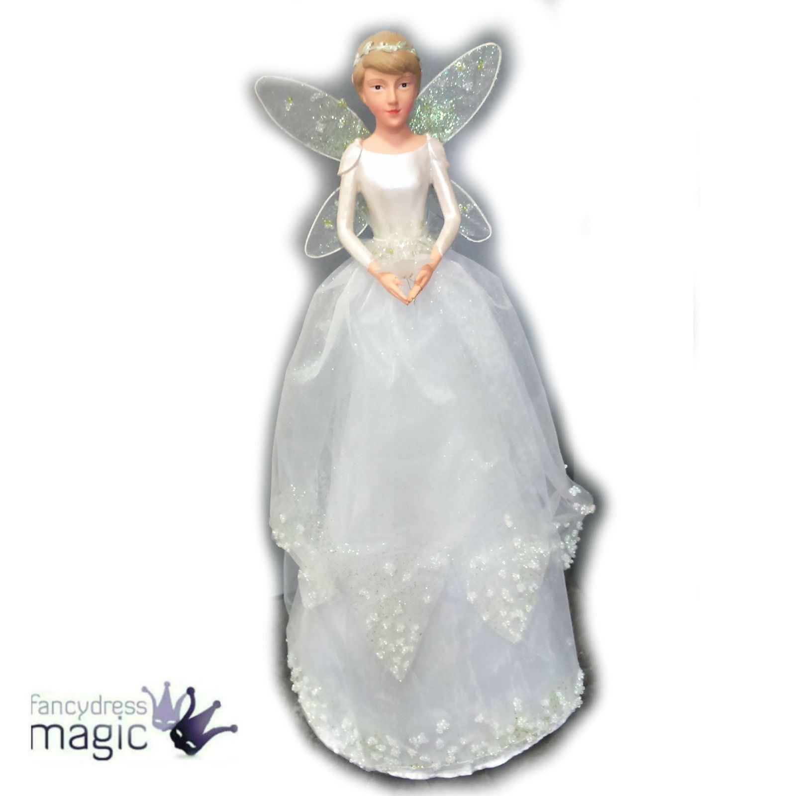 Gisela graham r sine et tissu perce neige f e pour sommet sapin ange de no l ebay - Ange pour pointe de sapin ...