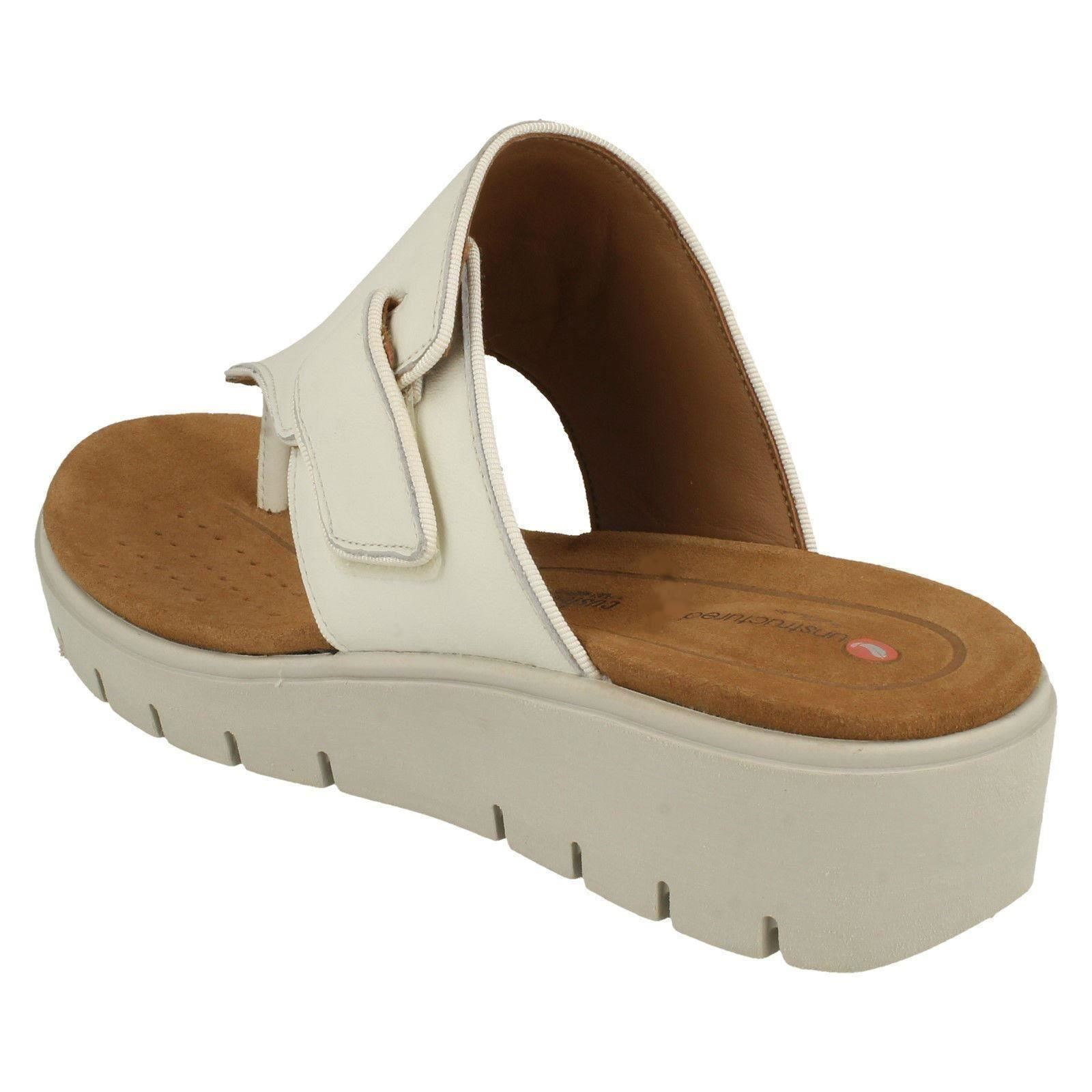 Ladies Clarks Unstructured Toe Post Sandals Un Karely Sea