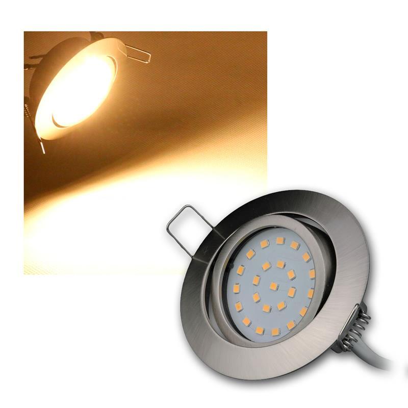 Led-Spots-Encastrables-par-Exemple-Acier-Inoxydable-Brosse-Chaud-Froid-230V