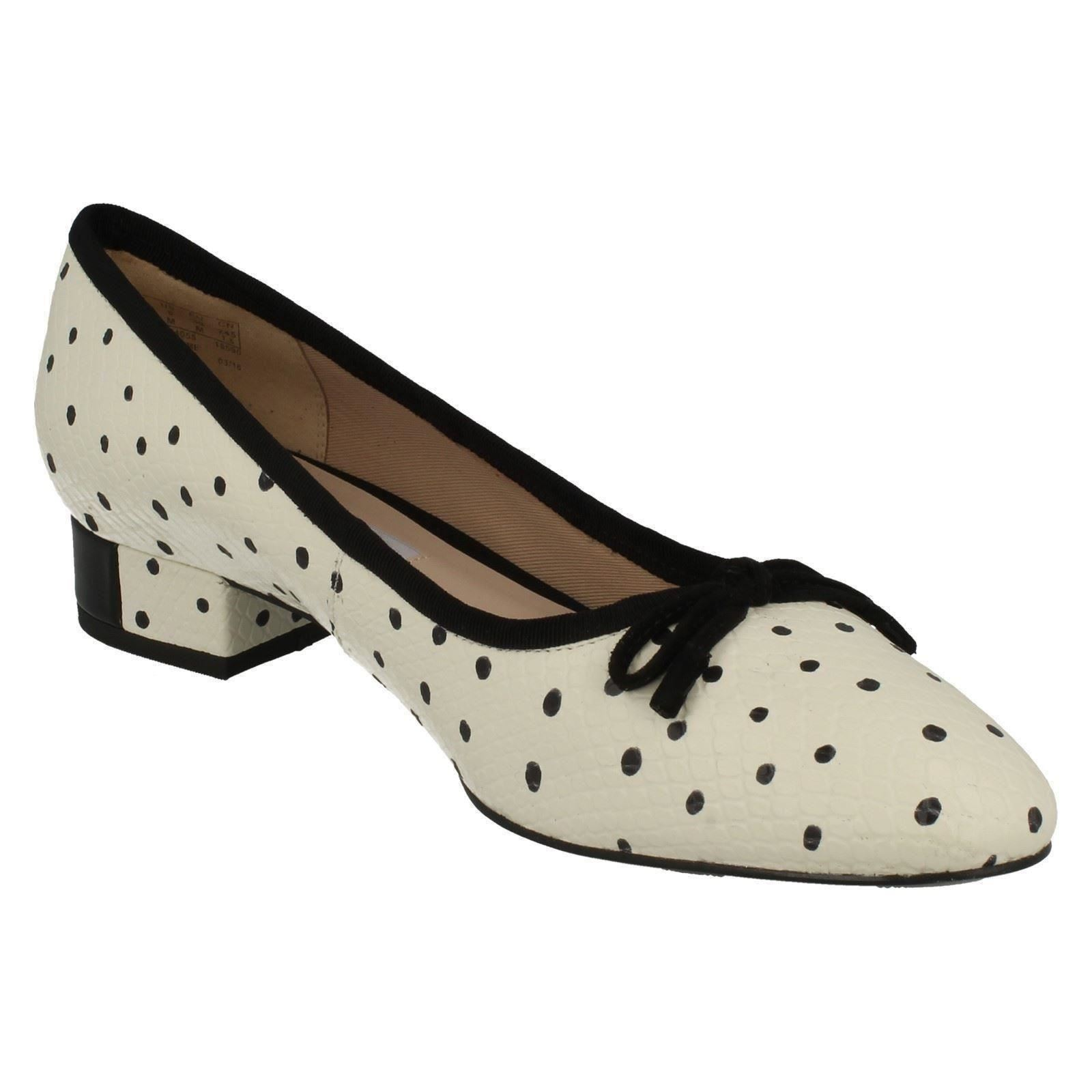 Mujer-Clarks-Tacon-bajo-Elegante-Zapatos-sin-Cierres-039-Eliberry-Isla-039